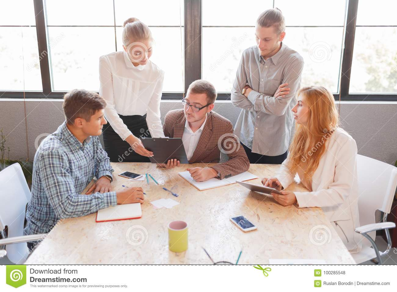 business negotiations of business partners business theme stock