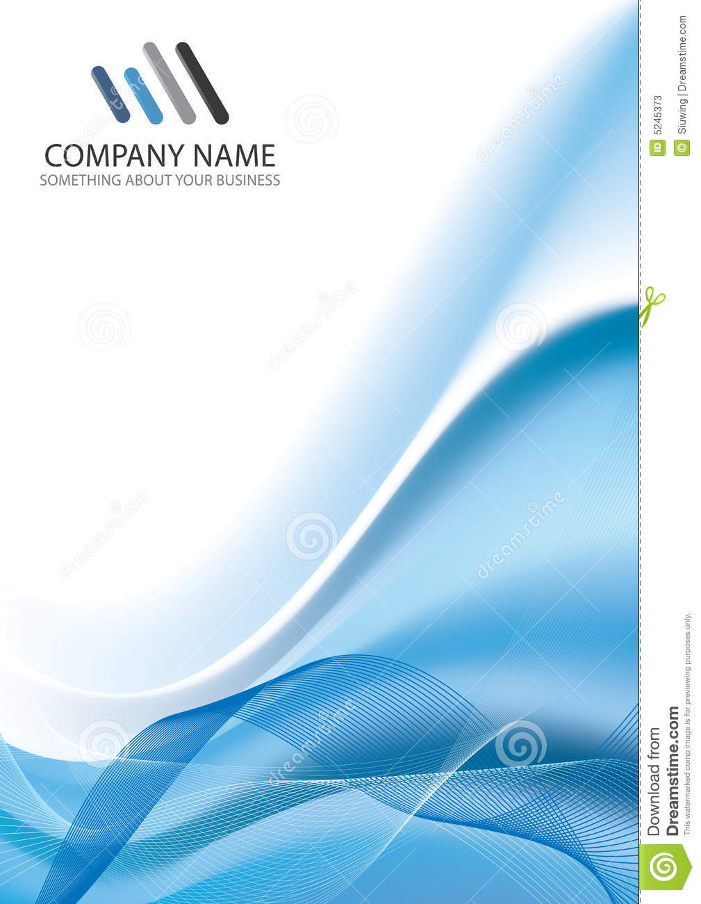 corporate business template background stock vector - illustration