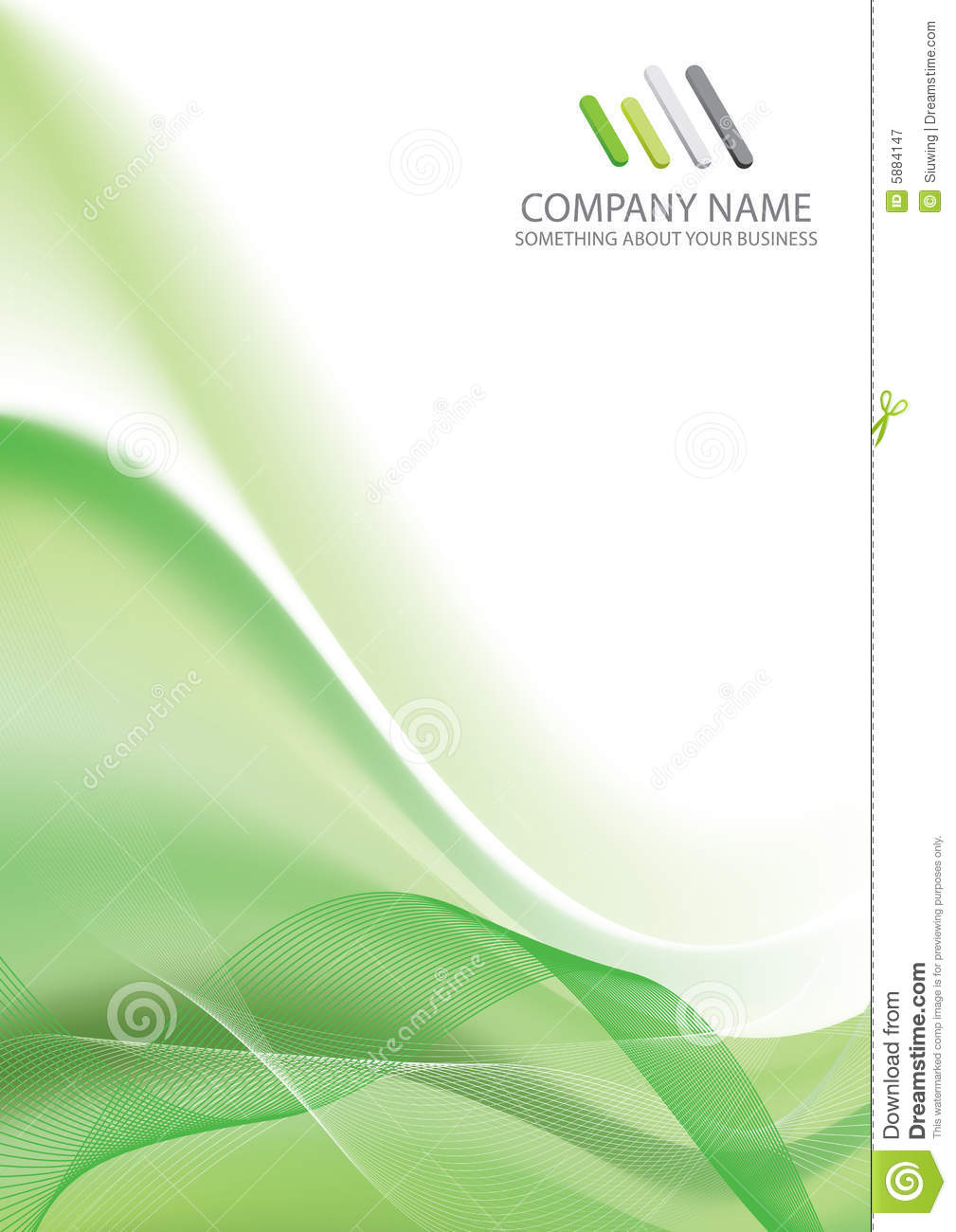 Corporate Business Template Background Stock Vector