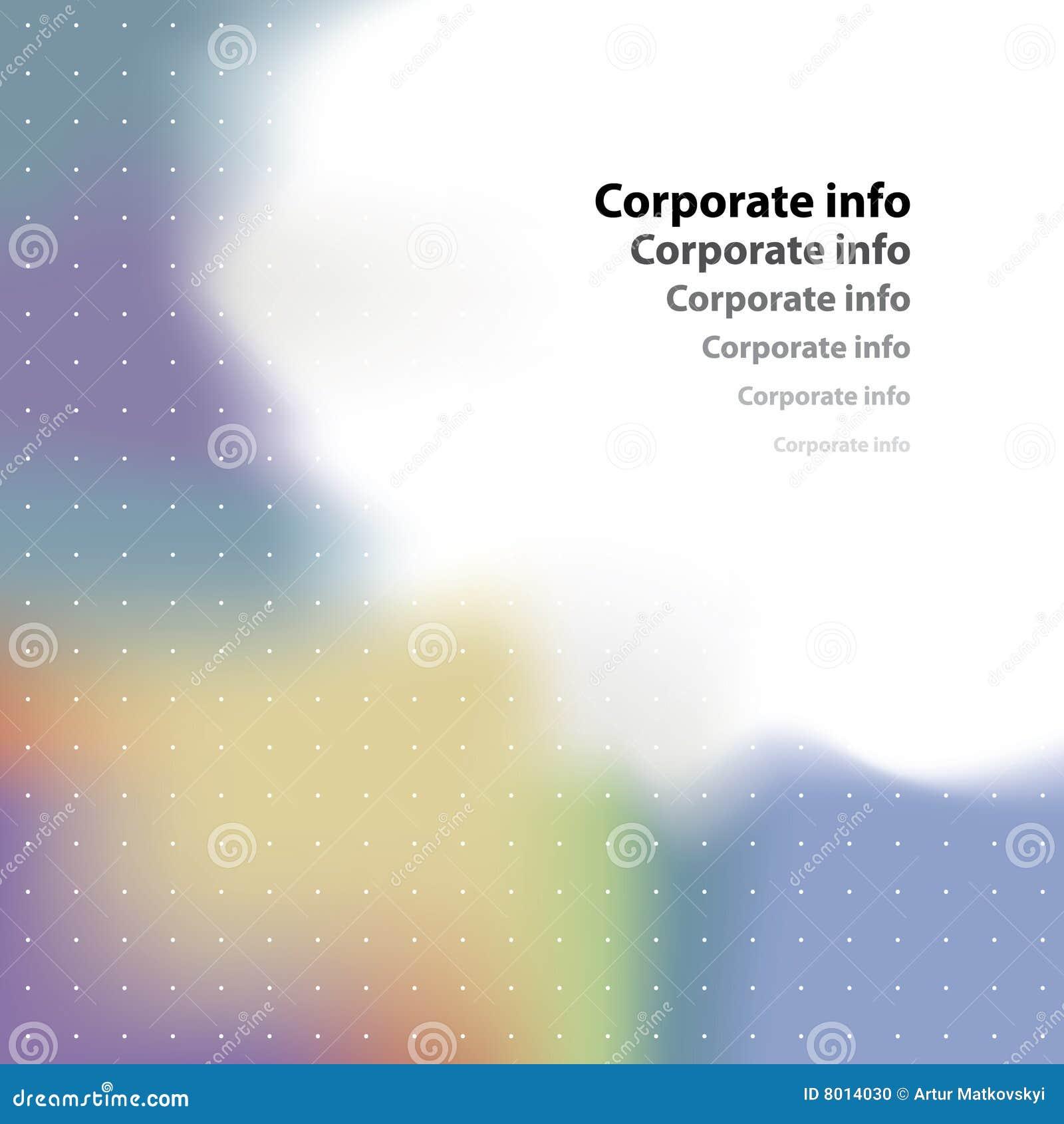 Corporate card. Vector.