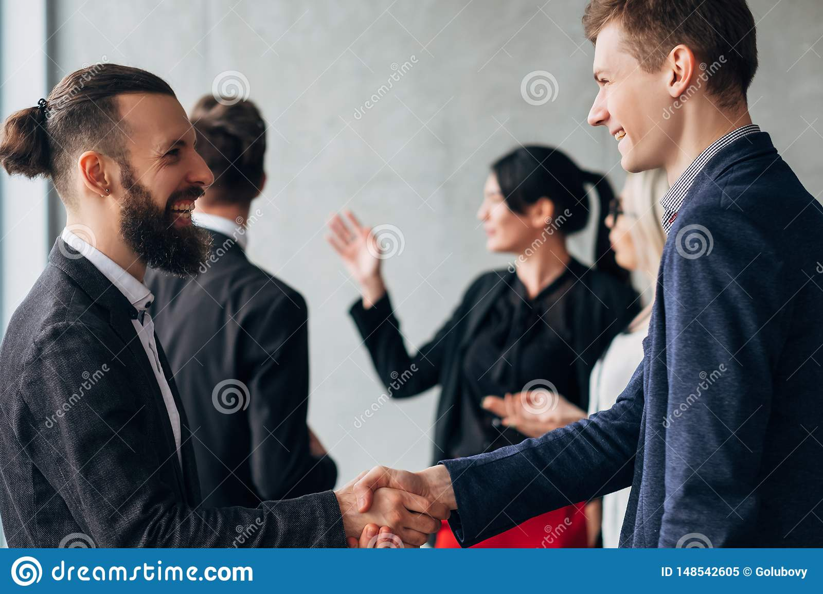 Corporate culture business etiquette handshake