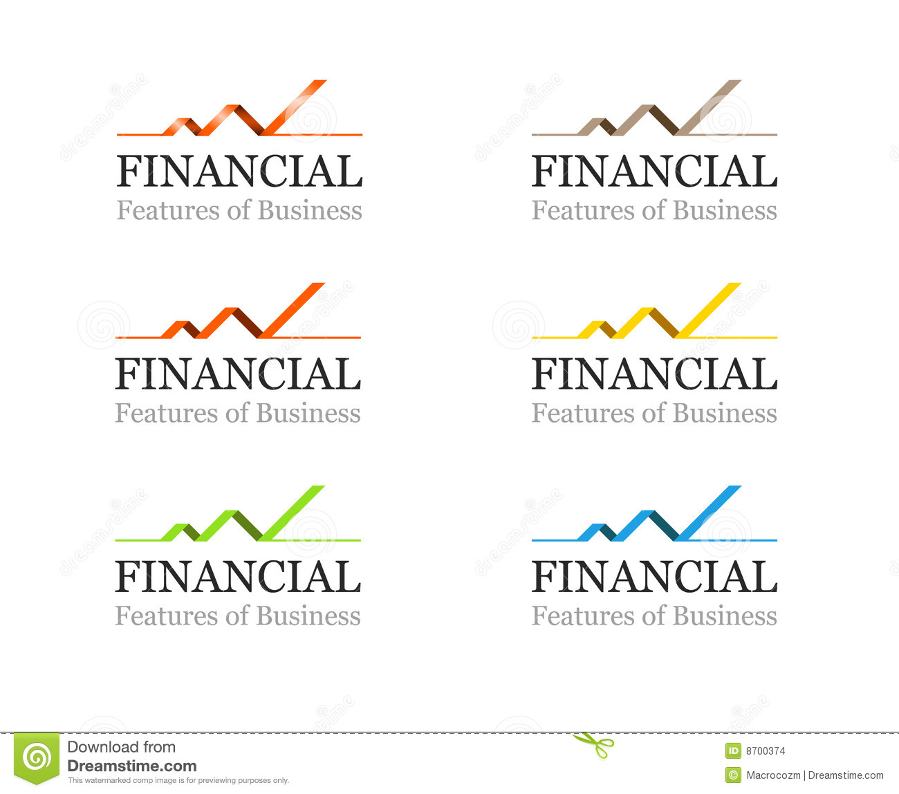 Corporate Finance: Corporate Financial Or Business Logo Template Set Stock