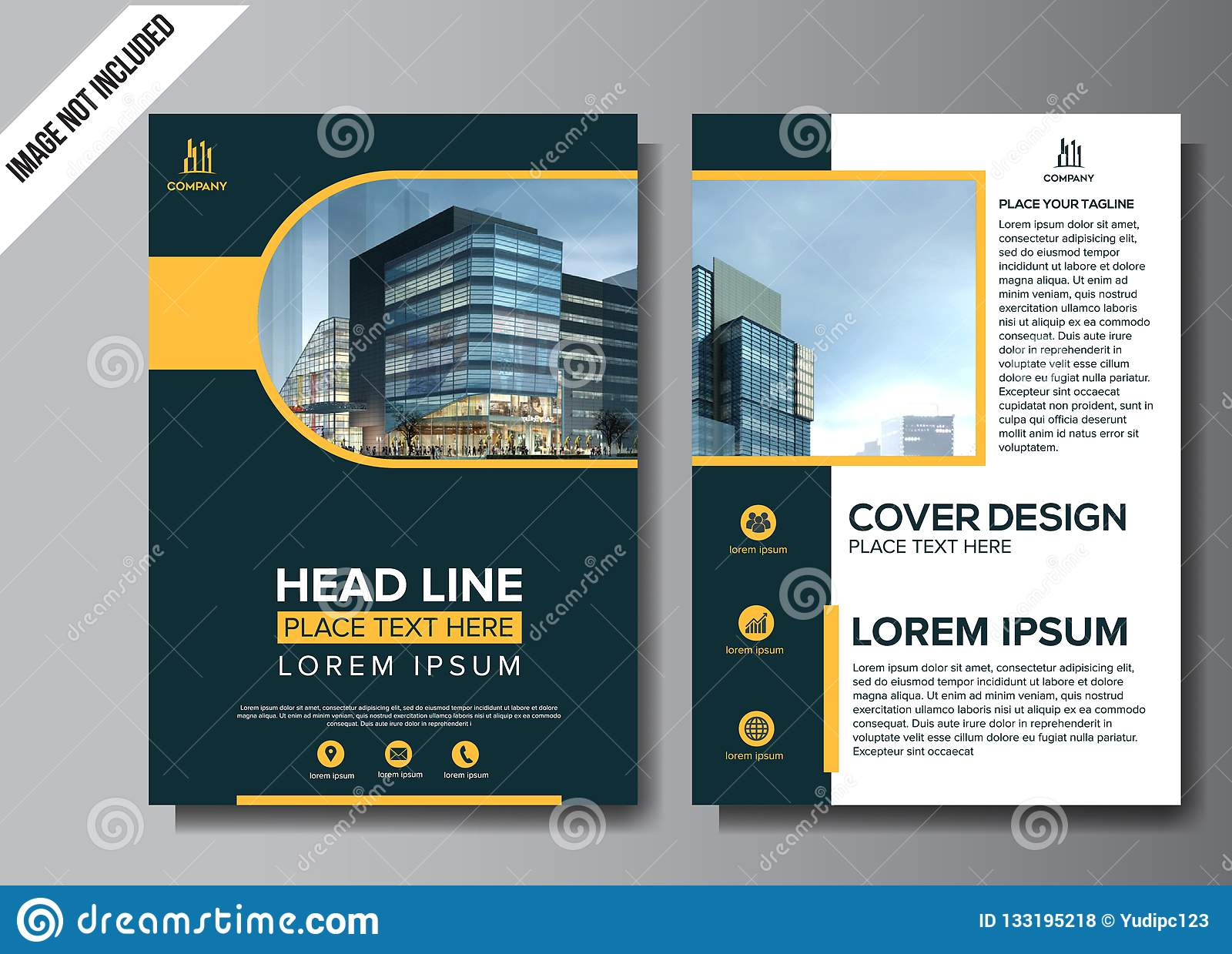 Corporate flyer layout template vector illustration
