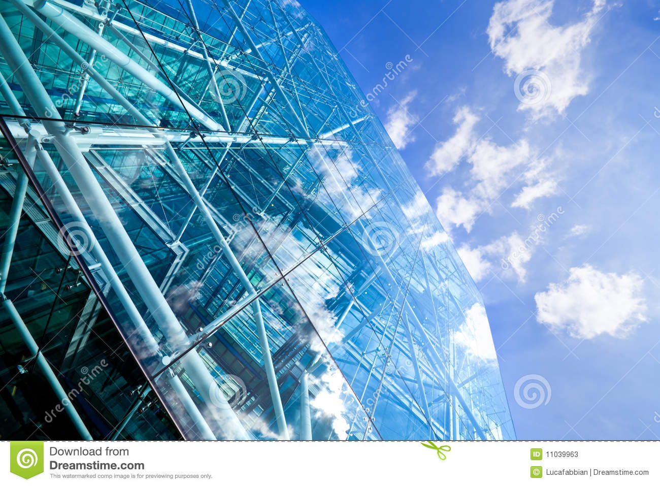 Steel Glass Buildings : Corporate glass and steel building stock photos image