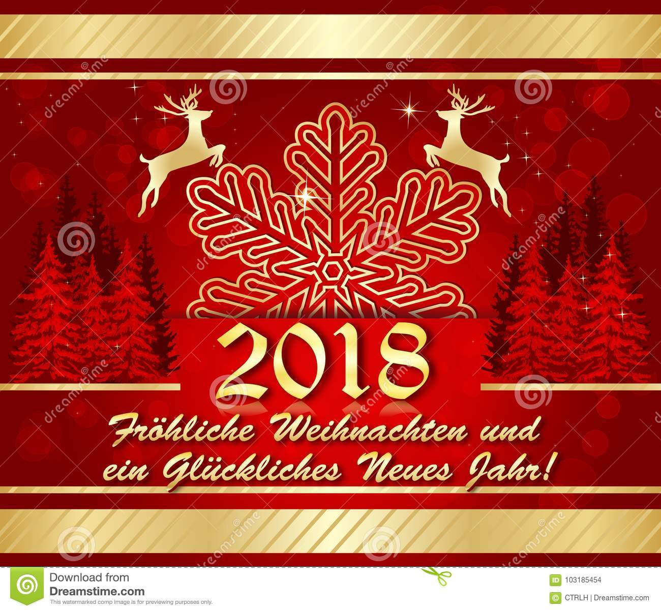 Corporate Greeting Card For The Holiday Season 2018 Stock Photo