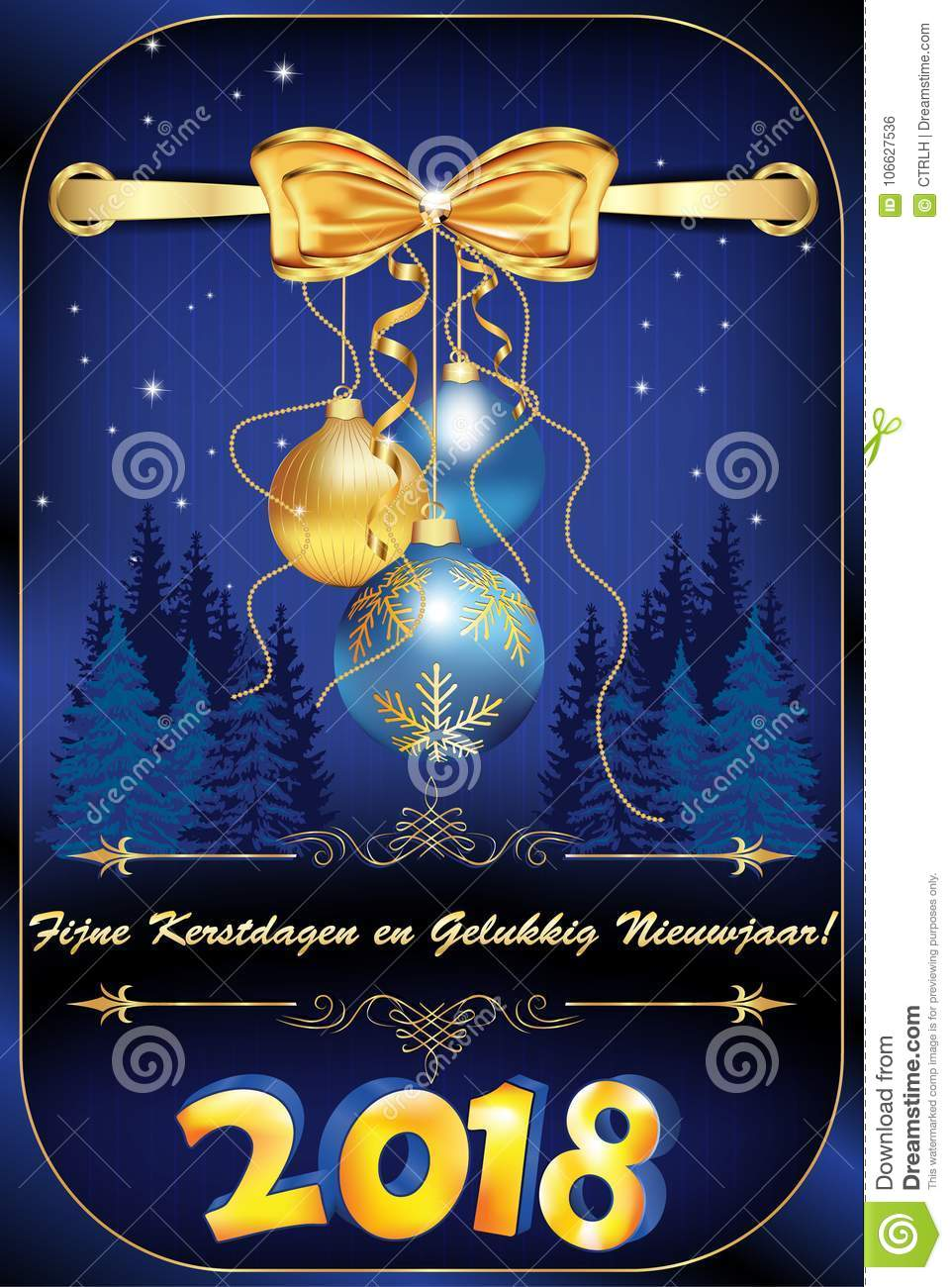 corporate greeting card for the new year celebration with message in dutch