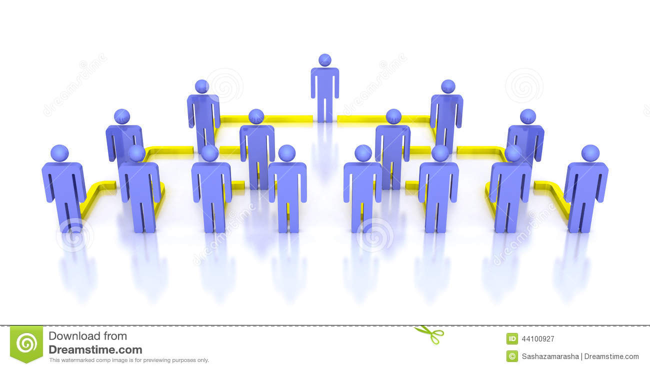 corporate hierarchy business network 3d people stock