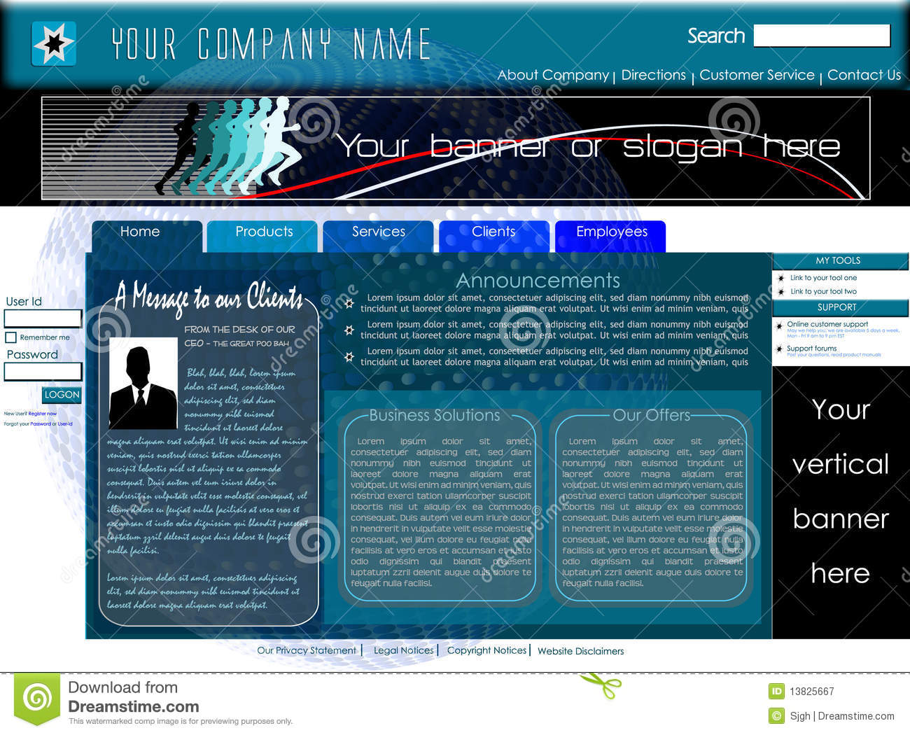 Corporate home page website template stock vector illustration of download corporate home page website template stock vector illustration of computer label 13825667 flashek Image collections