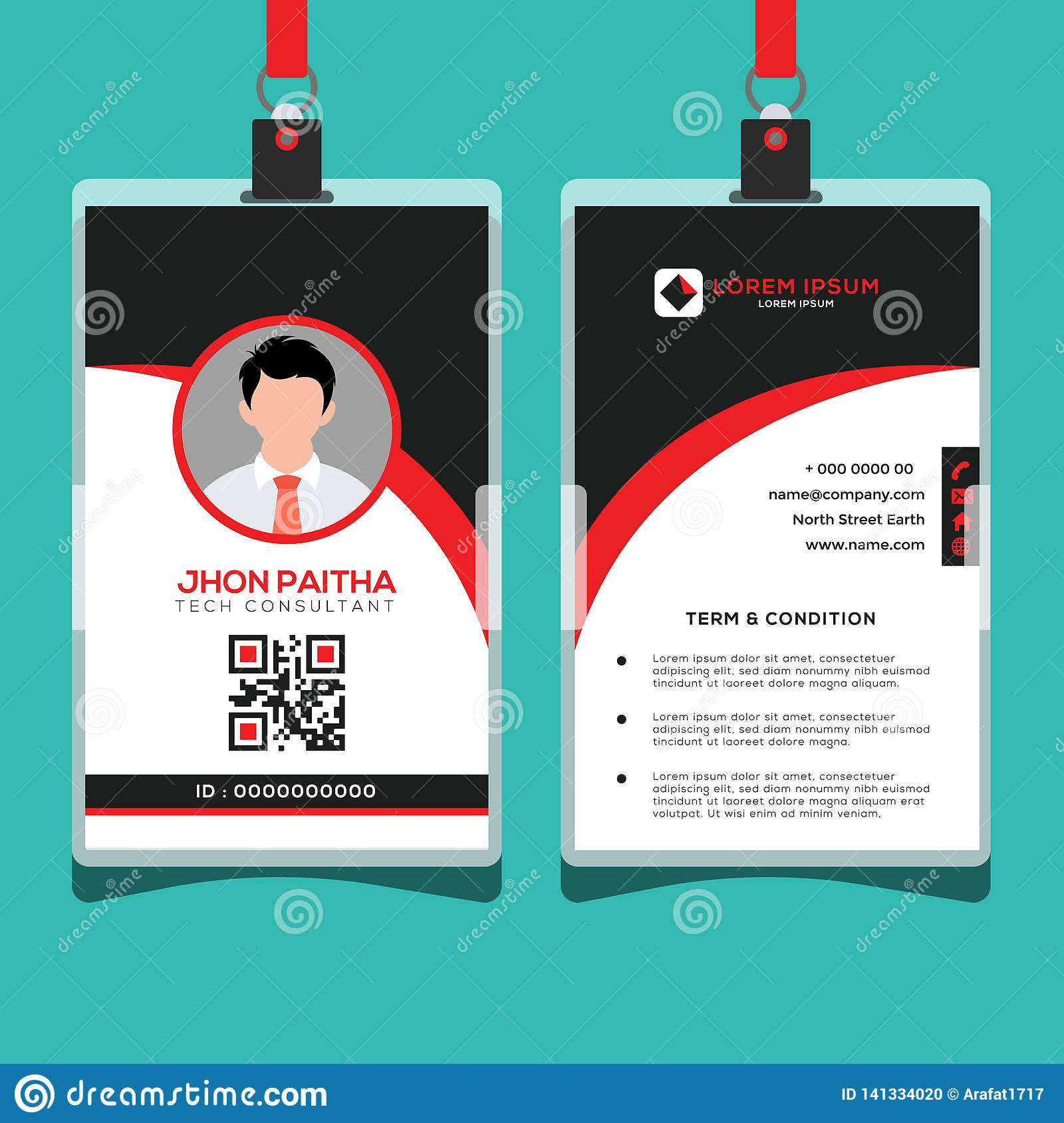 Corporate ID Card Design Template Stock Vector - Illustration of Intended For Company Id Card Design Template