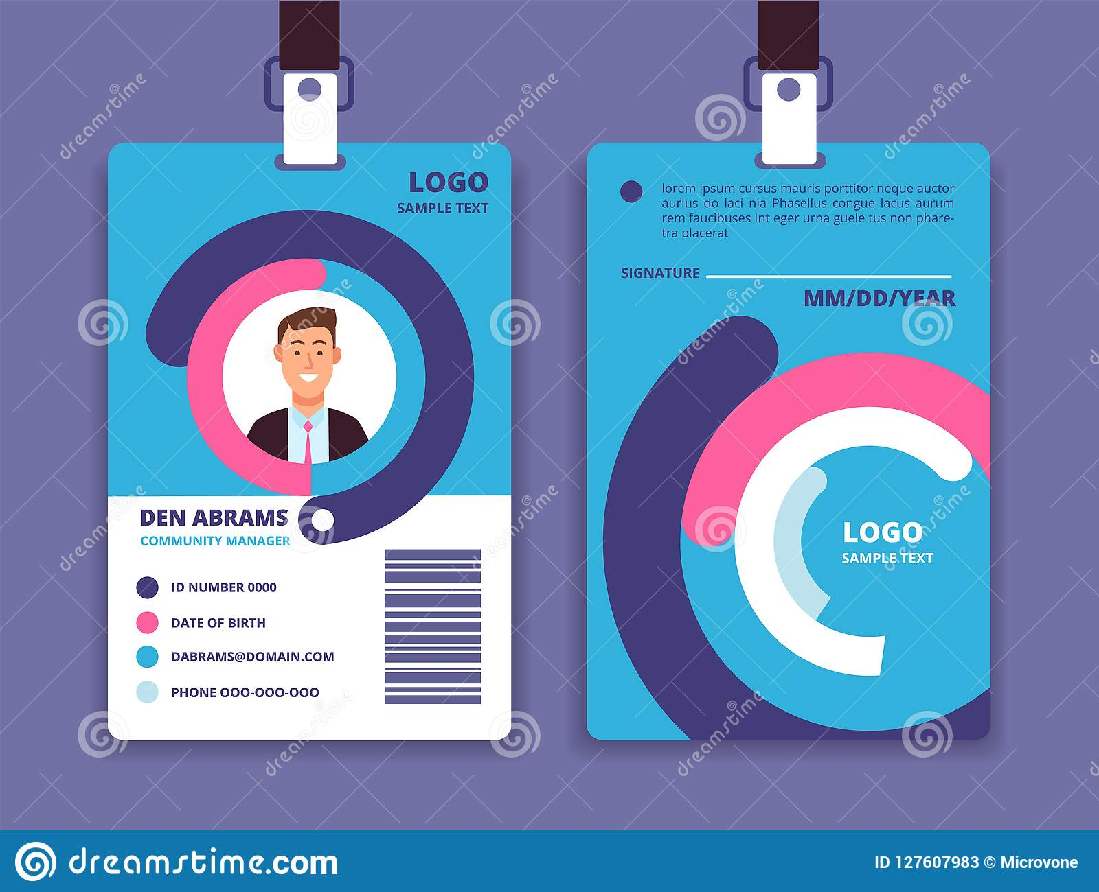 Corporate Id Card Professional Employee Identity Badge With