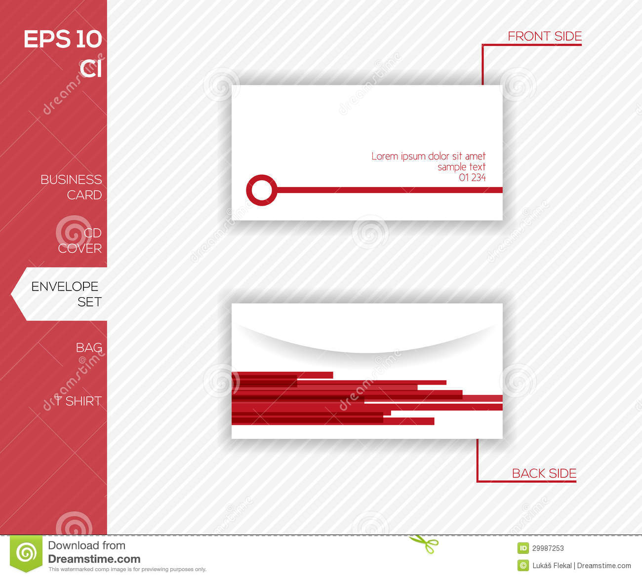 Corporate Identity Design For Business Envelope Stock