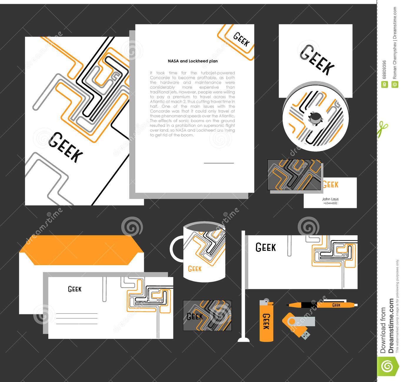 corporate identity design classic stationery templates set stock