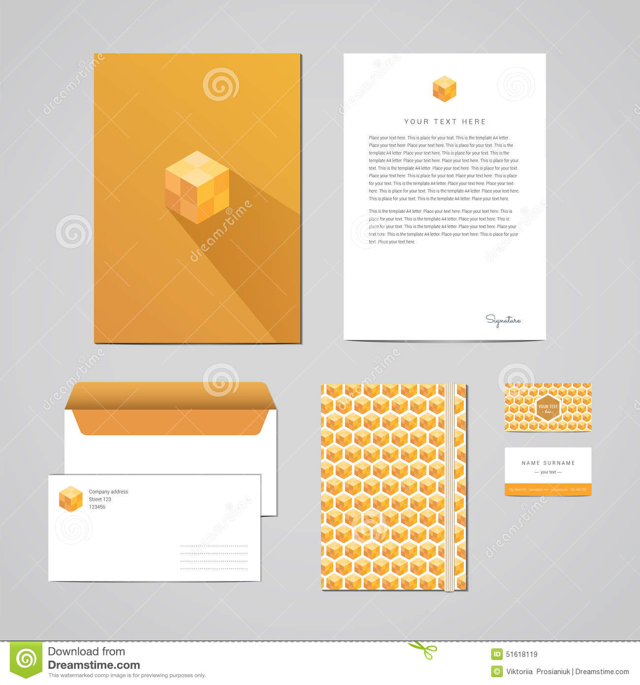 Letterhead Envelopes: Corporate Identity Design Template. Documentation For