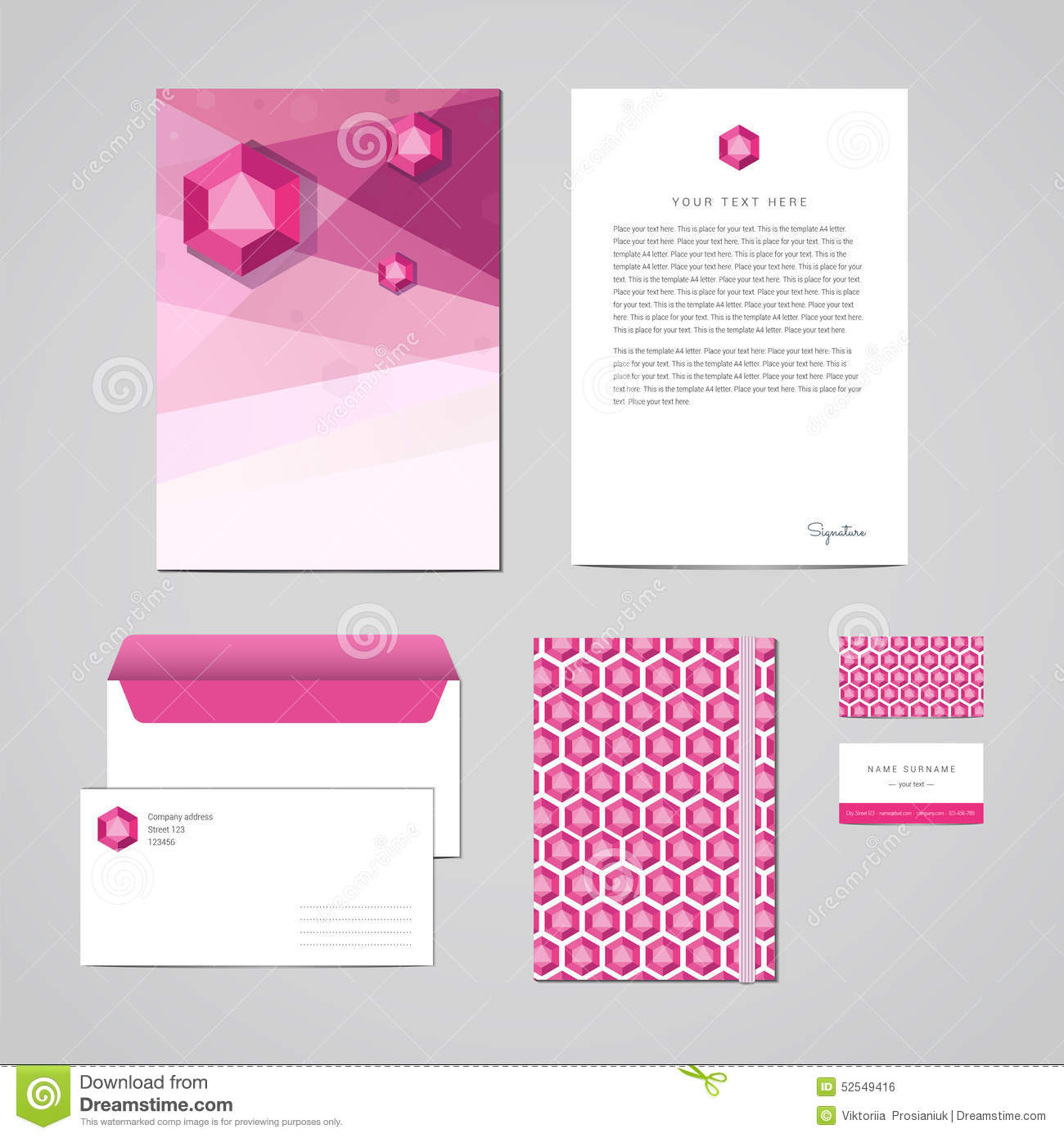 Corporate Identity Design Template. Documentation For Business ...