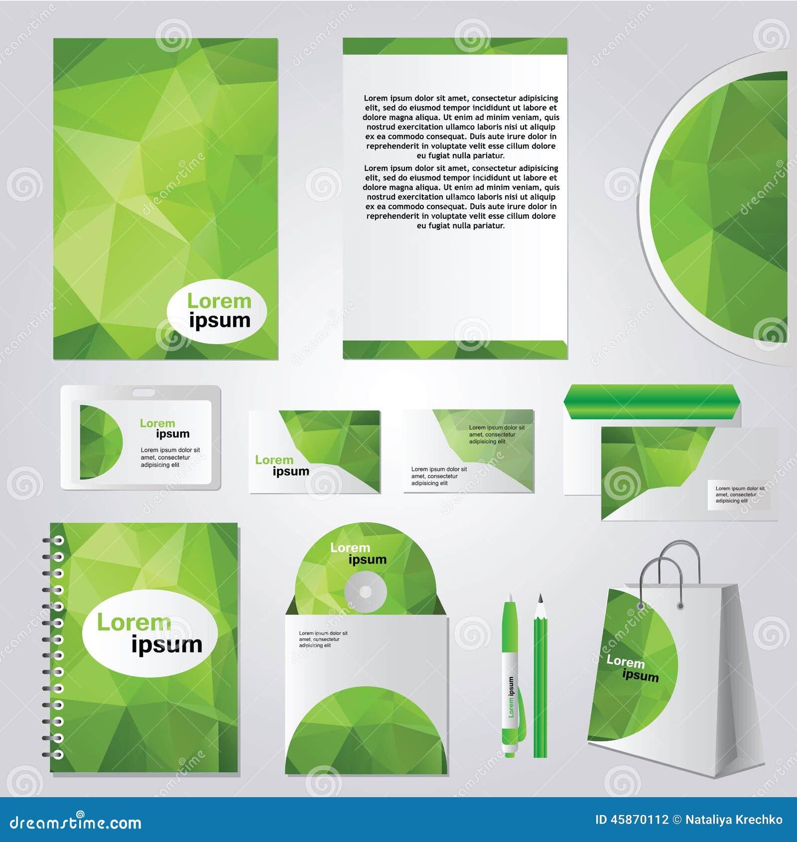 Corporate Identity Design Vector Stock Vector