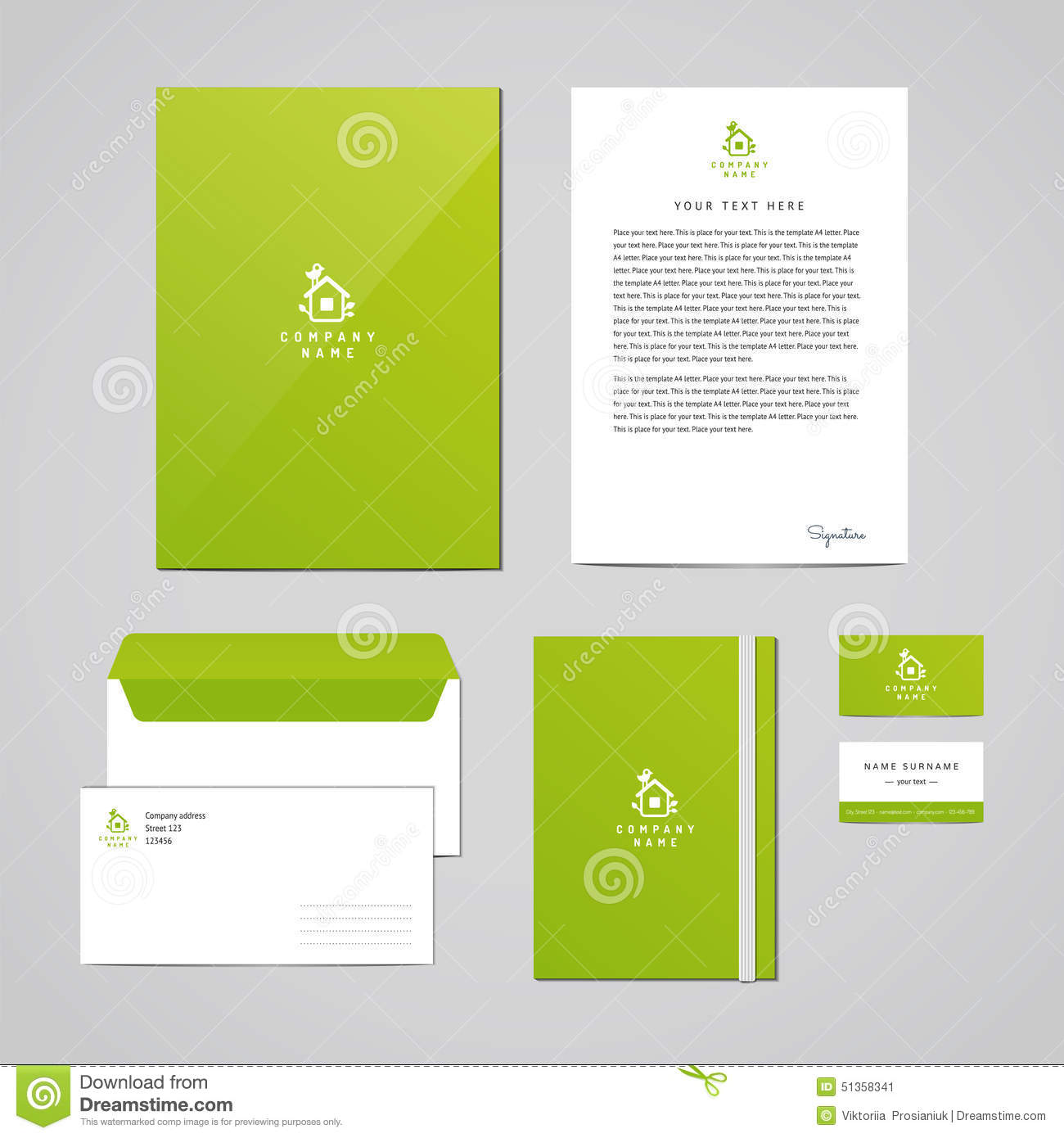 Corporate Identity Eco Design Template. Documentation For Business ...