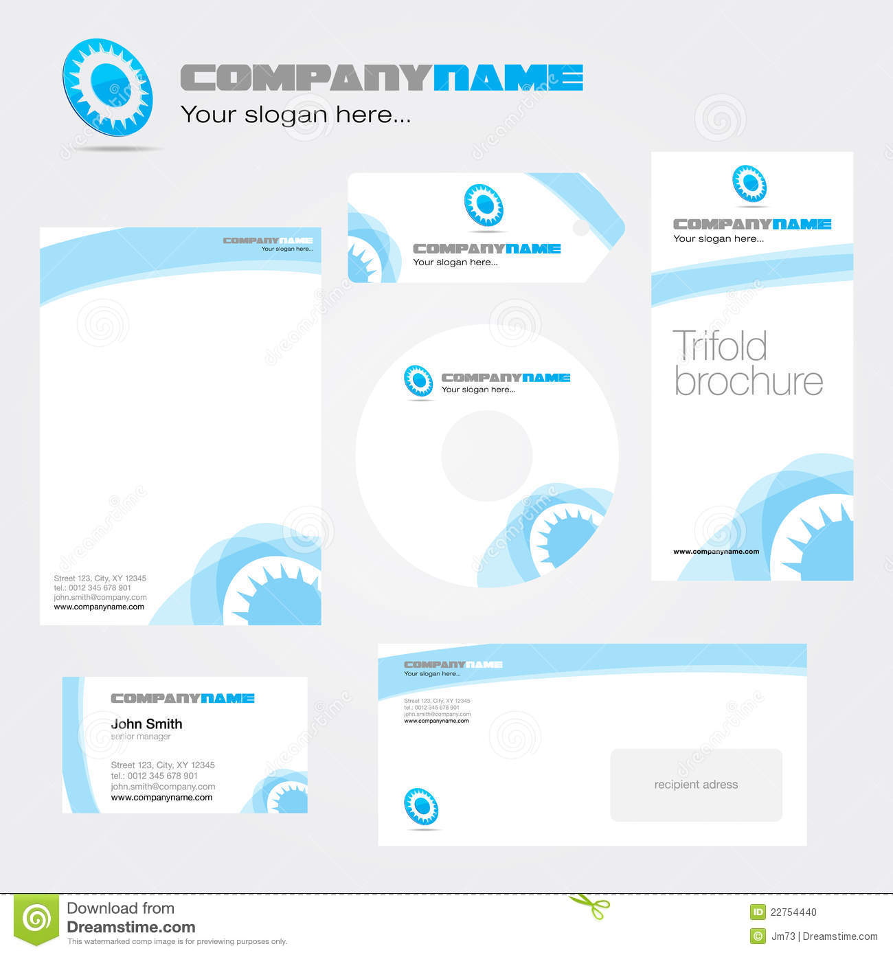Corporate identity package for your company. Easily customizable in ...