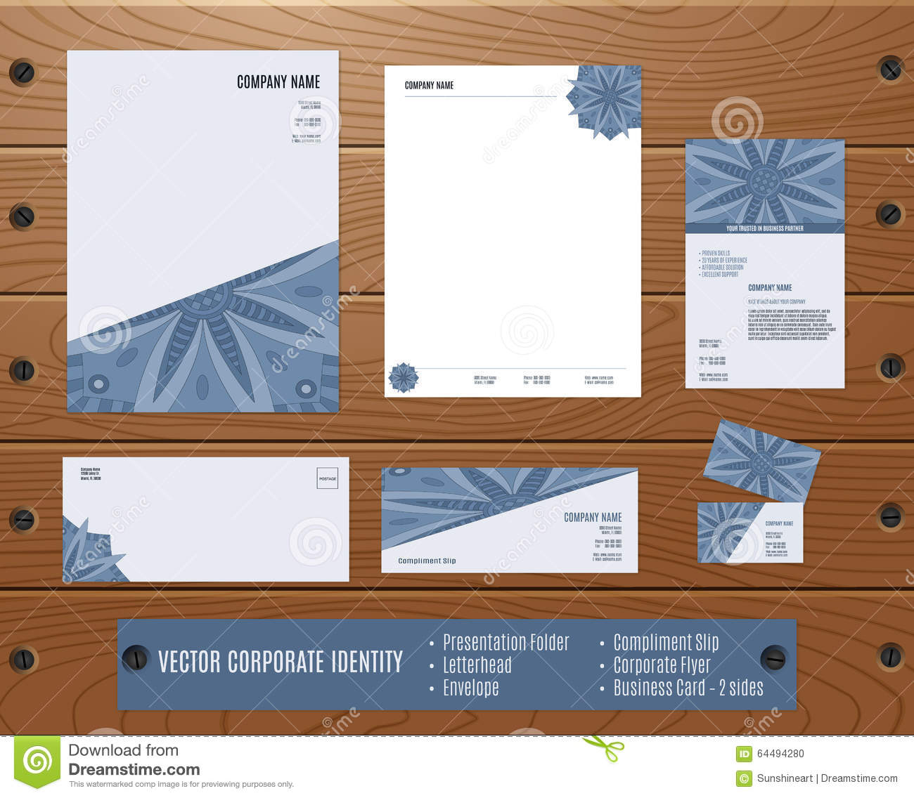 Letterhead Envelopes: Corporate Identity Set: Presentation Folder, Letterhead