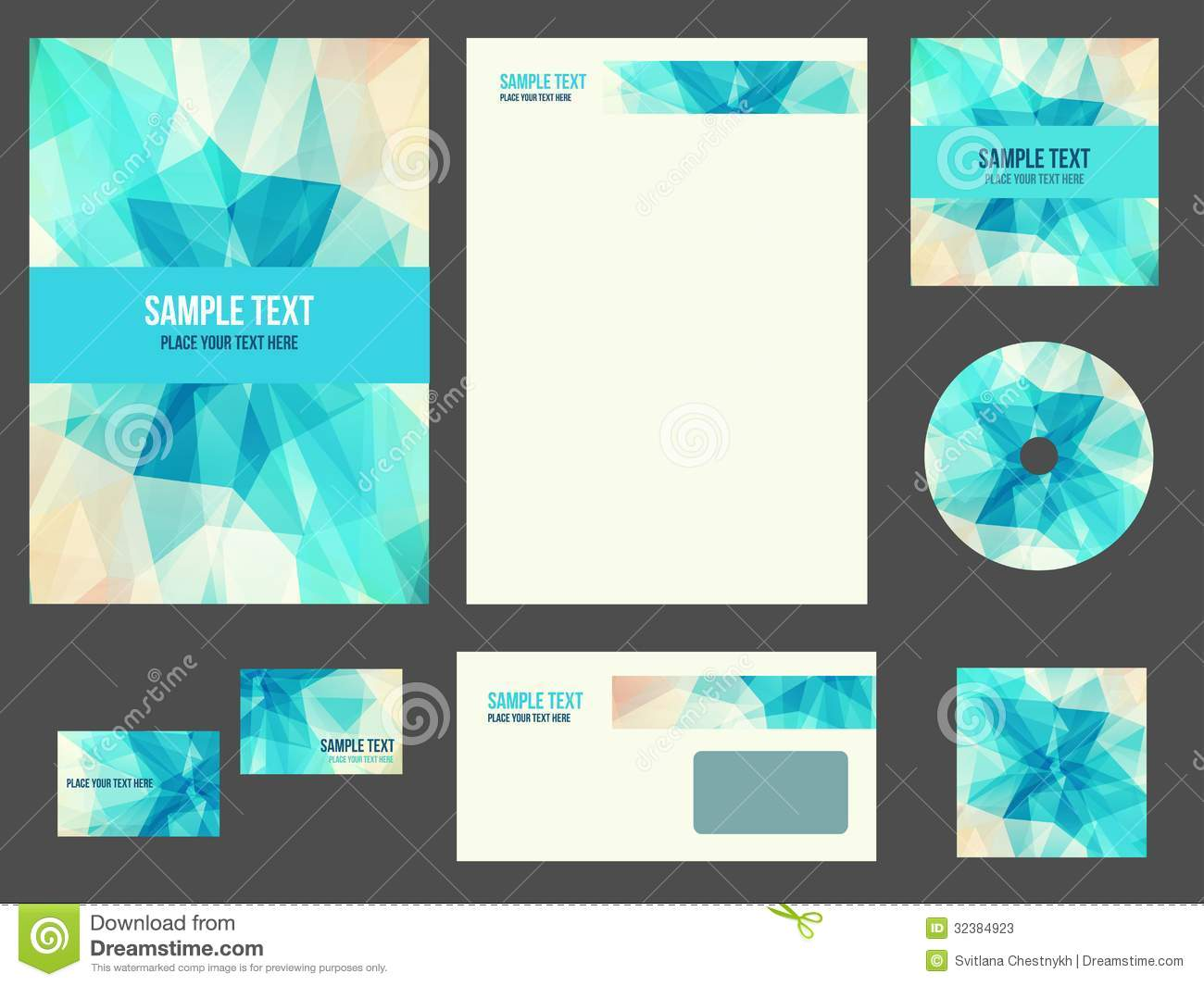 corporate identity stationery for company stock vector