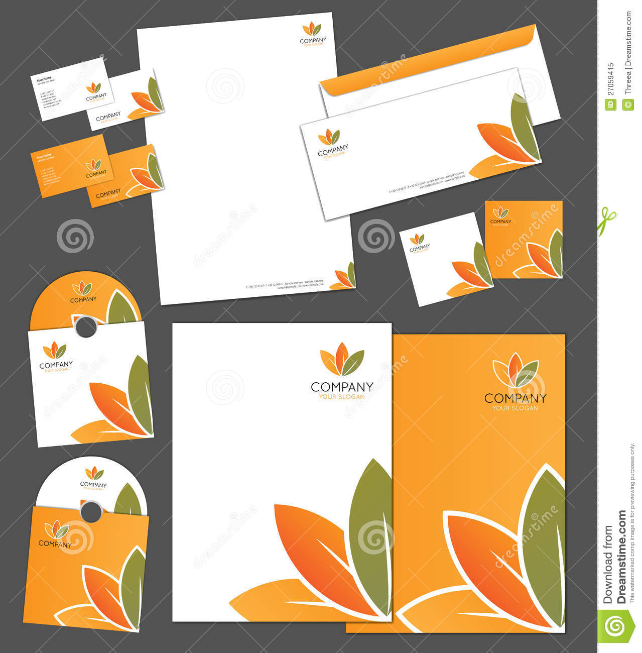 corporate identity template royalty free stock photo image 27059415