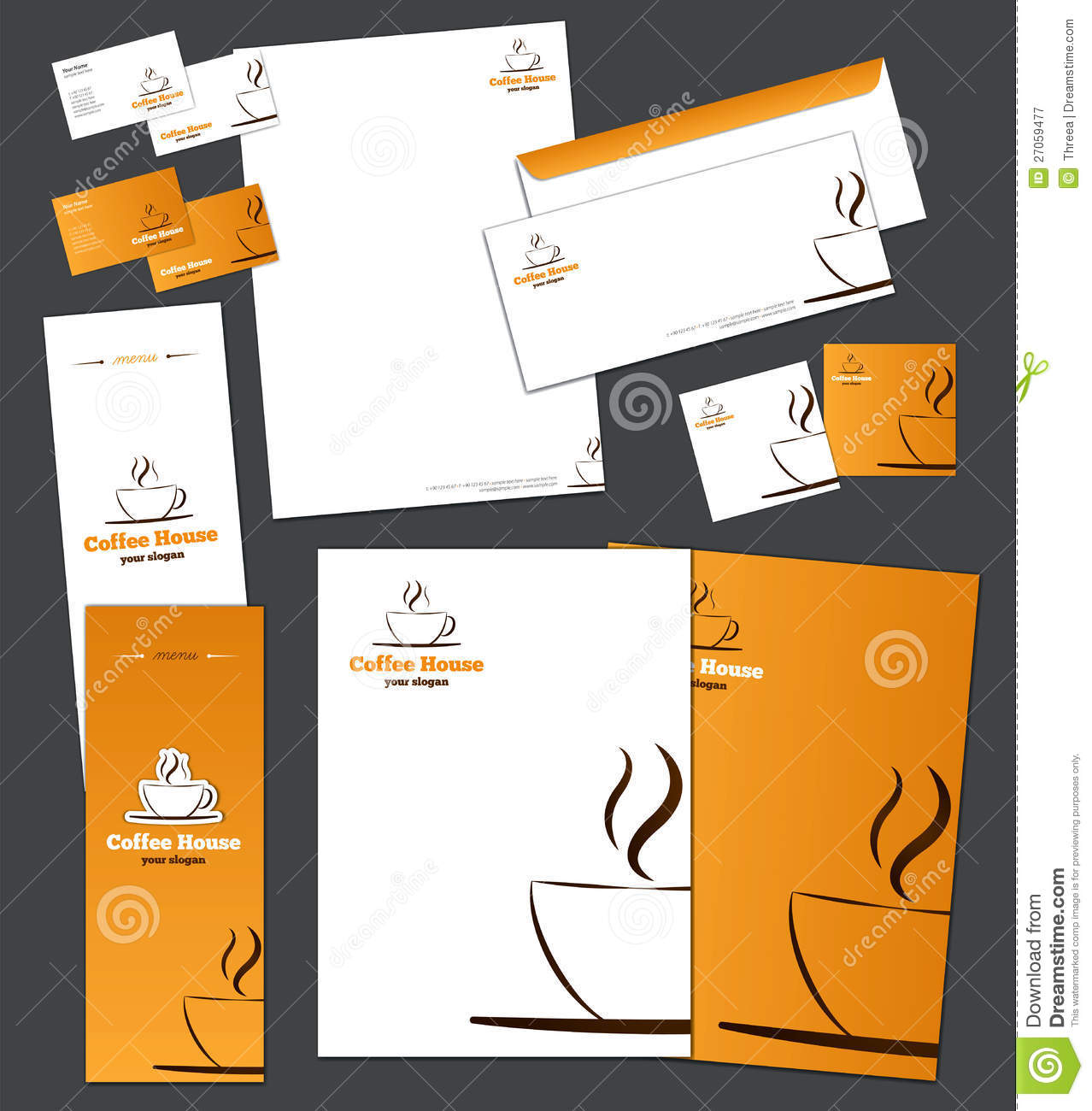 corporate identity template stock vector - image: 27059477, Powerpoint templates