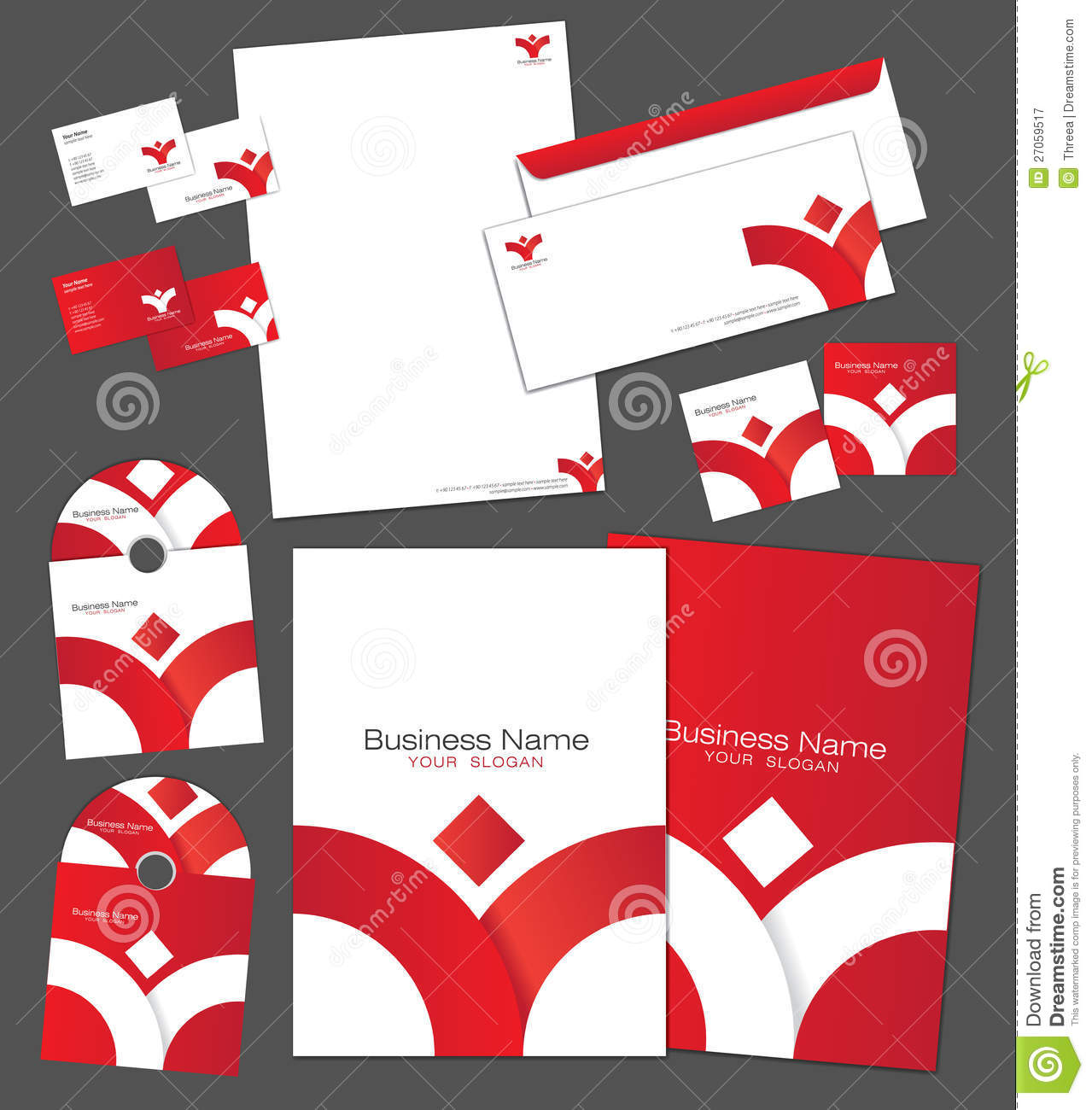 corporate identity template royalty free stock images image