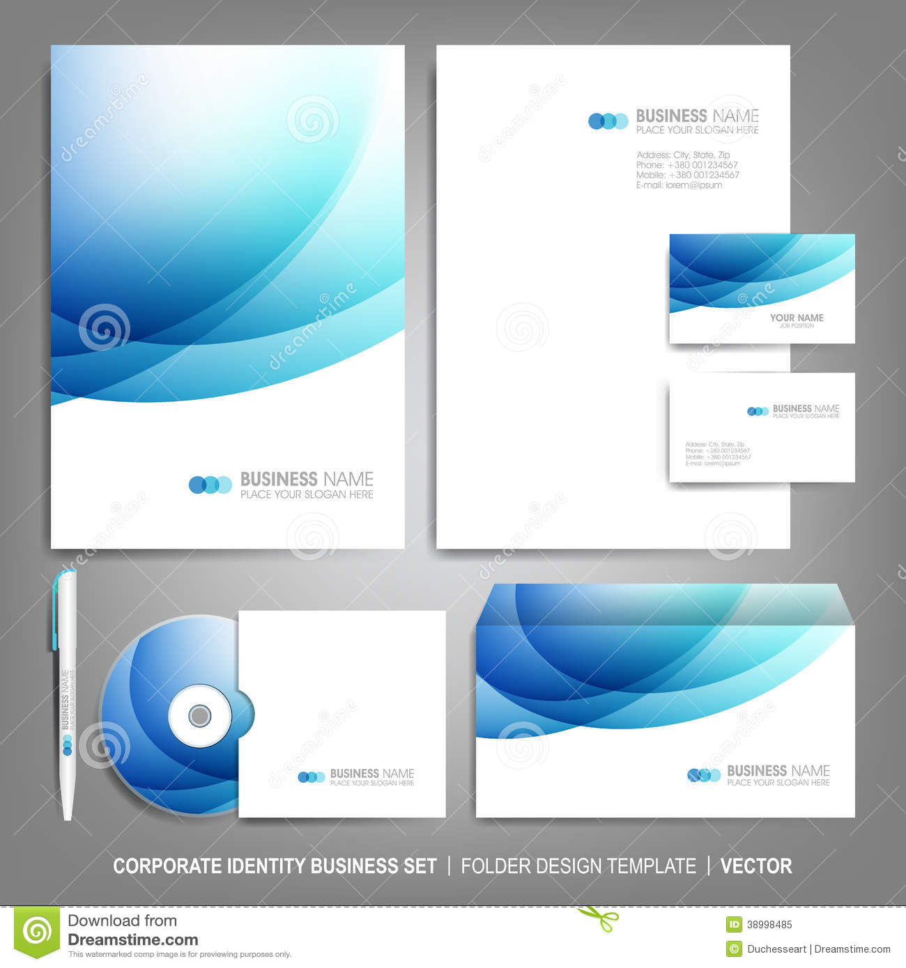 corporate identity template for business artworks stock
