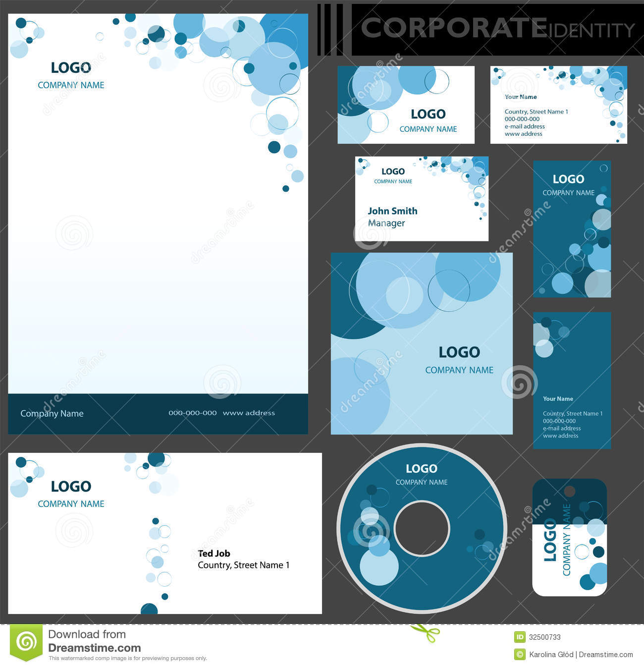 Corporate identity template stock vector illustration of corporate identity template identification vector flashek Gallery