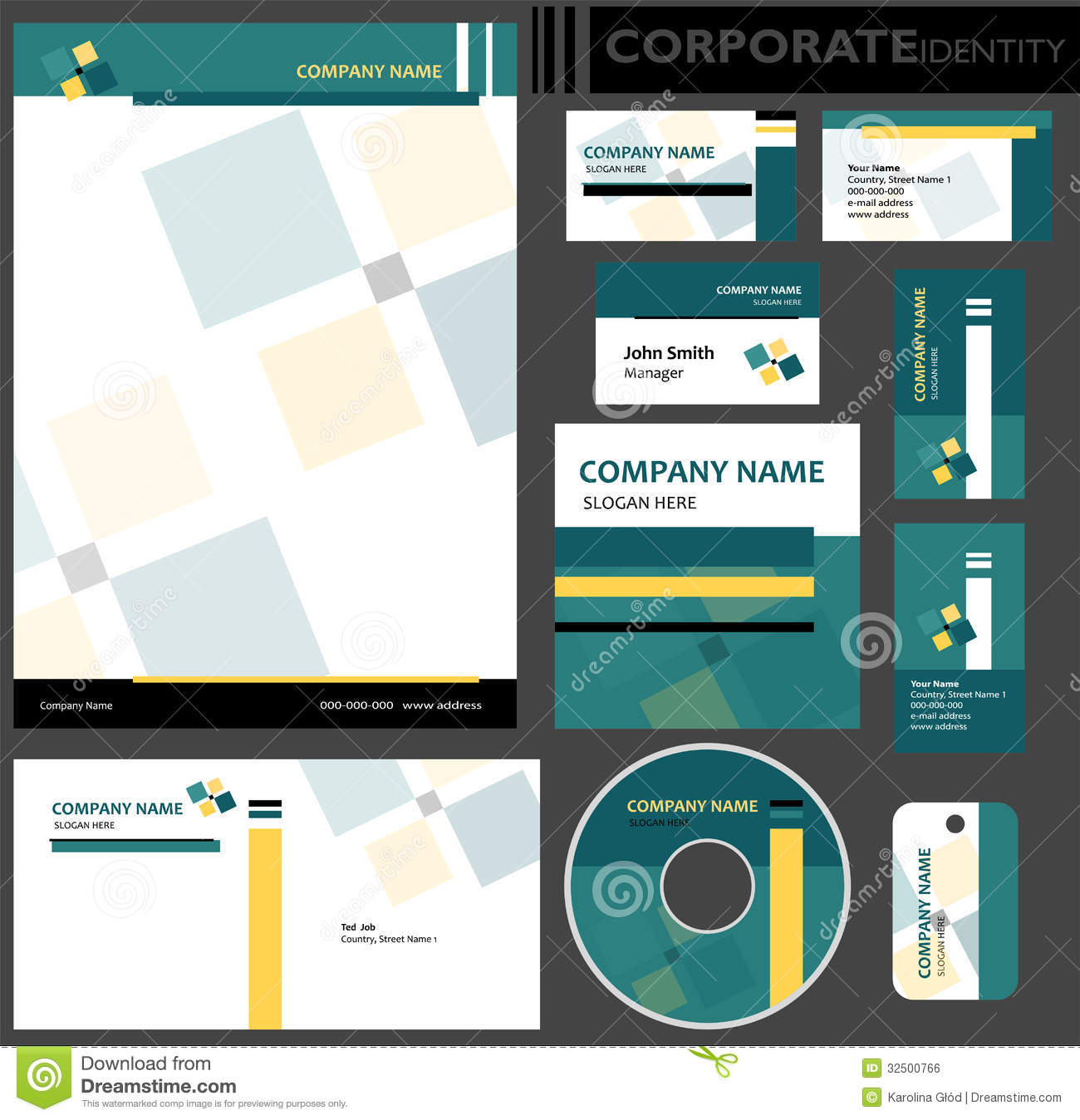 Corporate Identity Template Royalty Free Stock Image