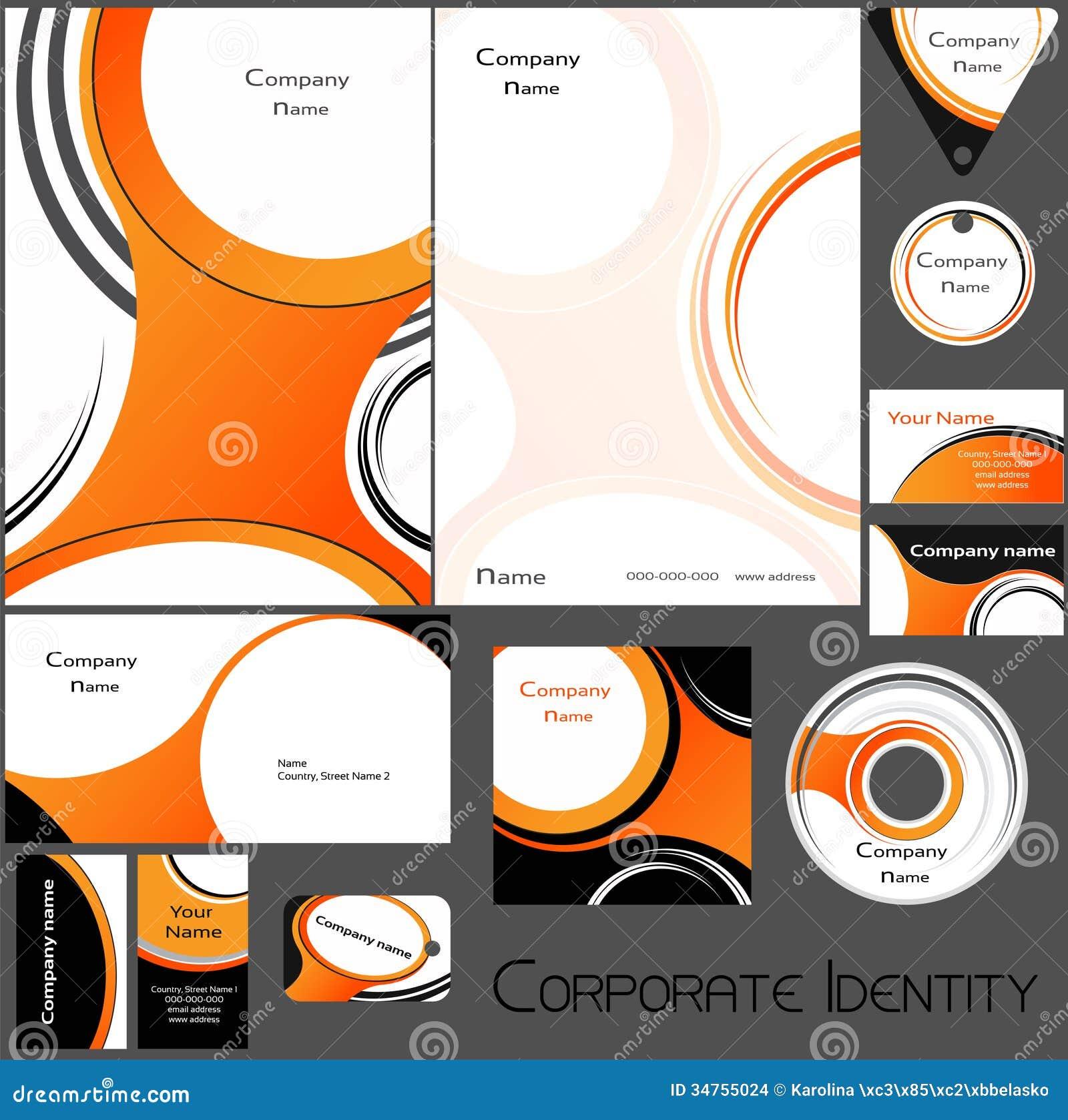 corporate identity template no 15 stock vector image 34755024. Black Bedroom Furniture Sets. Home Design Ideas