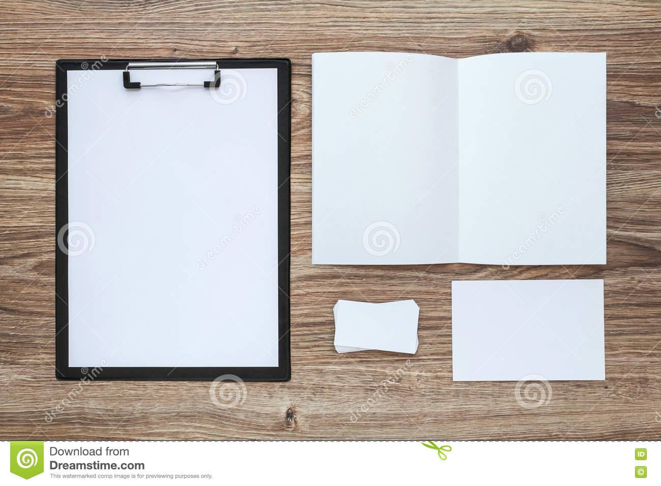 corporate identity template set business stationery mock up stock