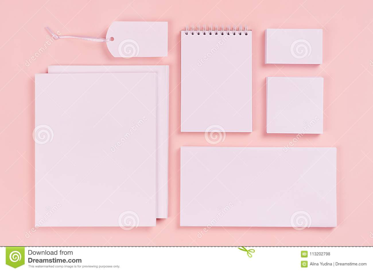 Corporate Identity Template, White Stationery Set With Blank ...