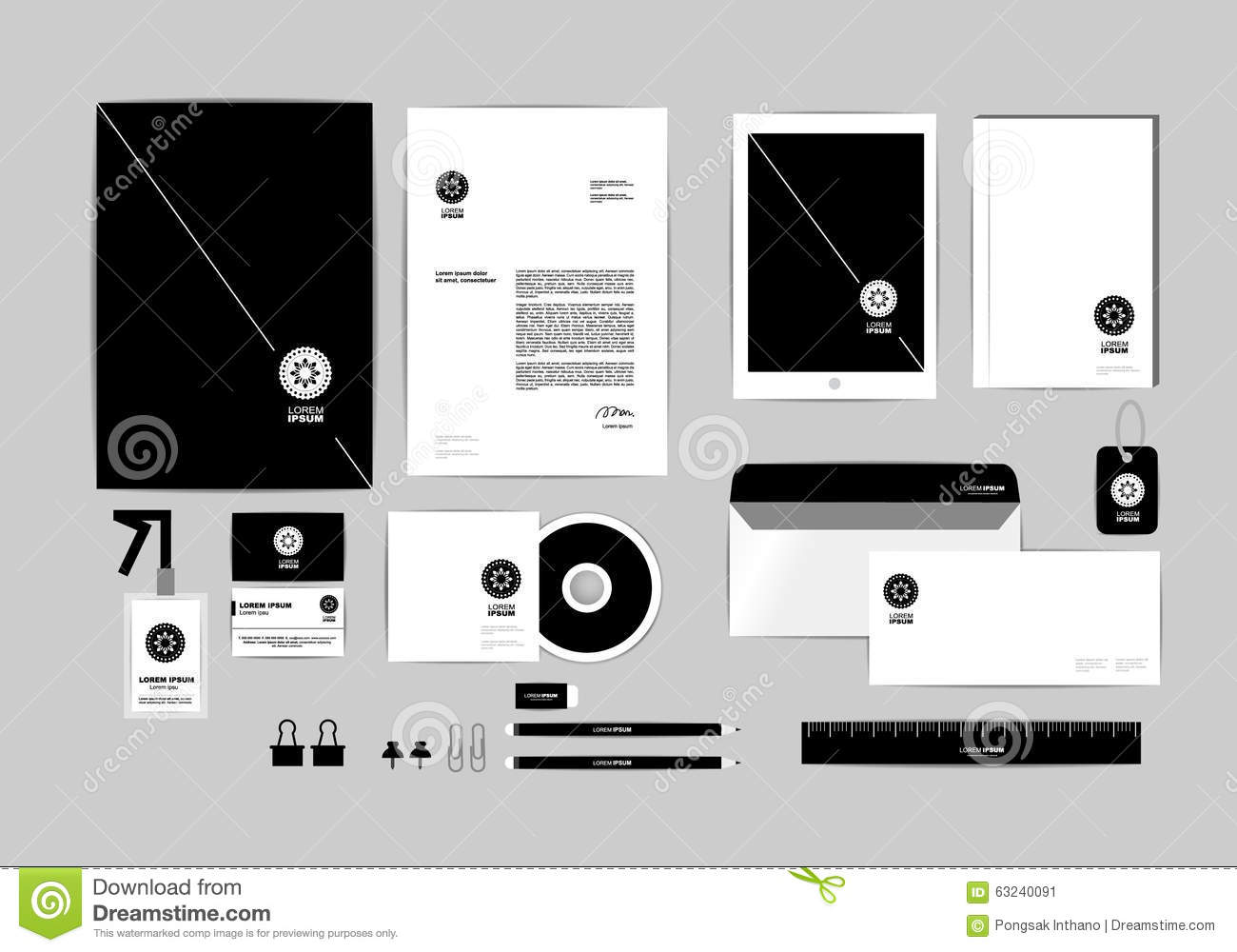 Corporate Identity Template For Your Business Includes Cd