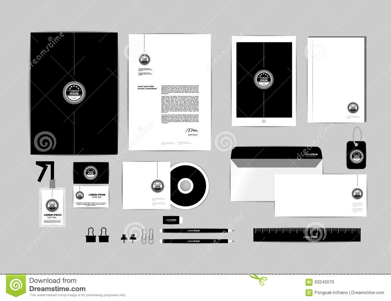 Corporate identity template for your business includes cd cover download comp colourmoves