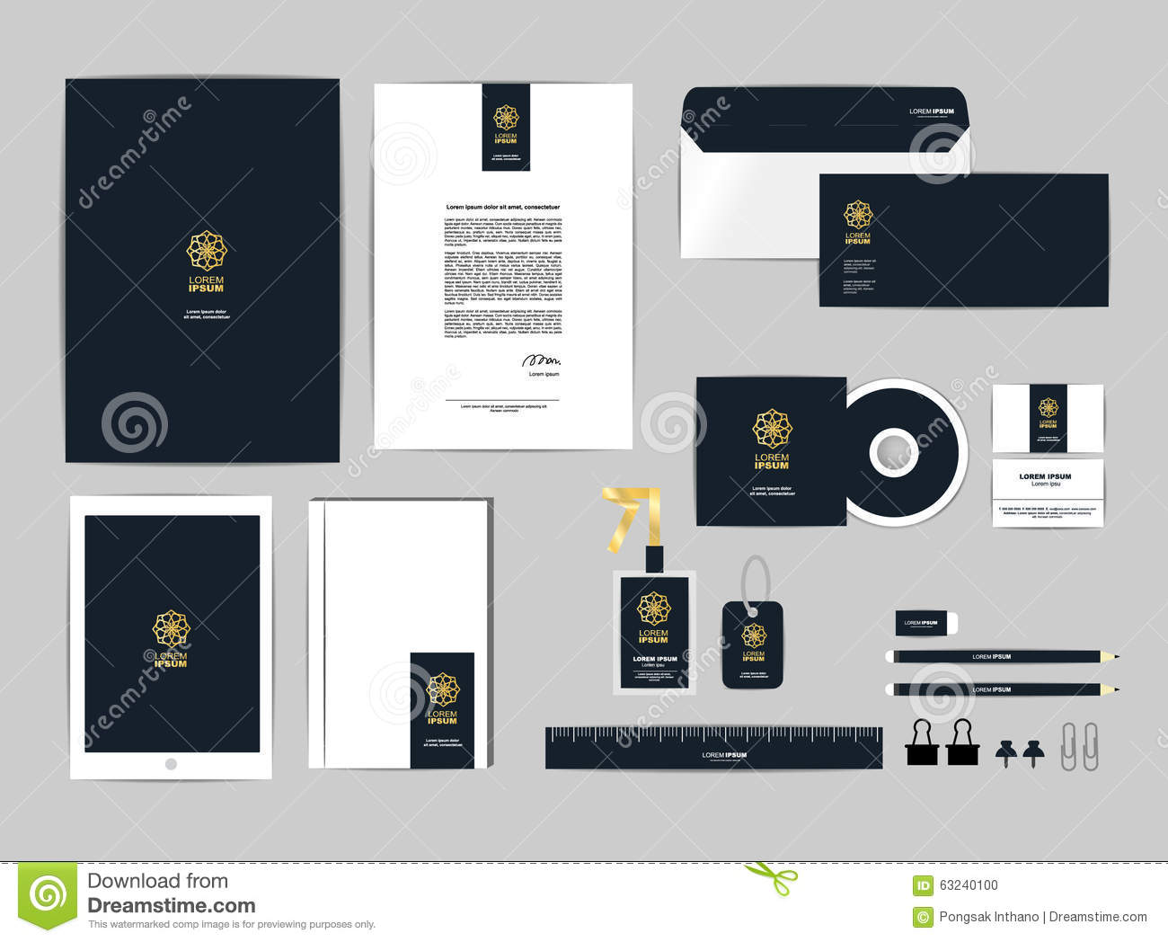 Corporate Identity Template For Your Business Includes CD Cover ...