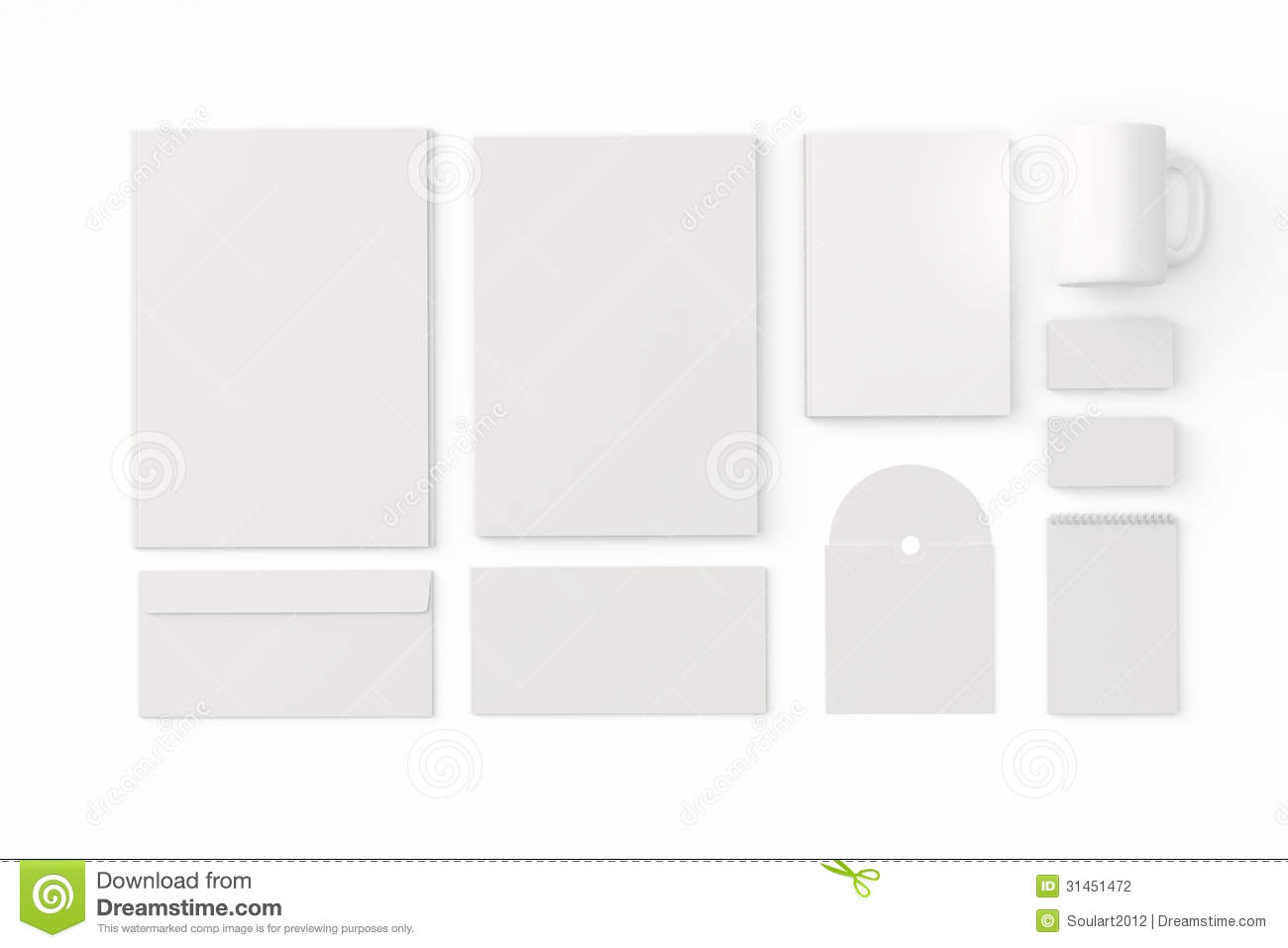 corporate identity templates stock illustration image 31451472. Black Bedroom Furniture Sets. Home Design Ideas