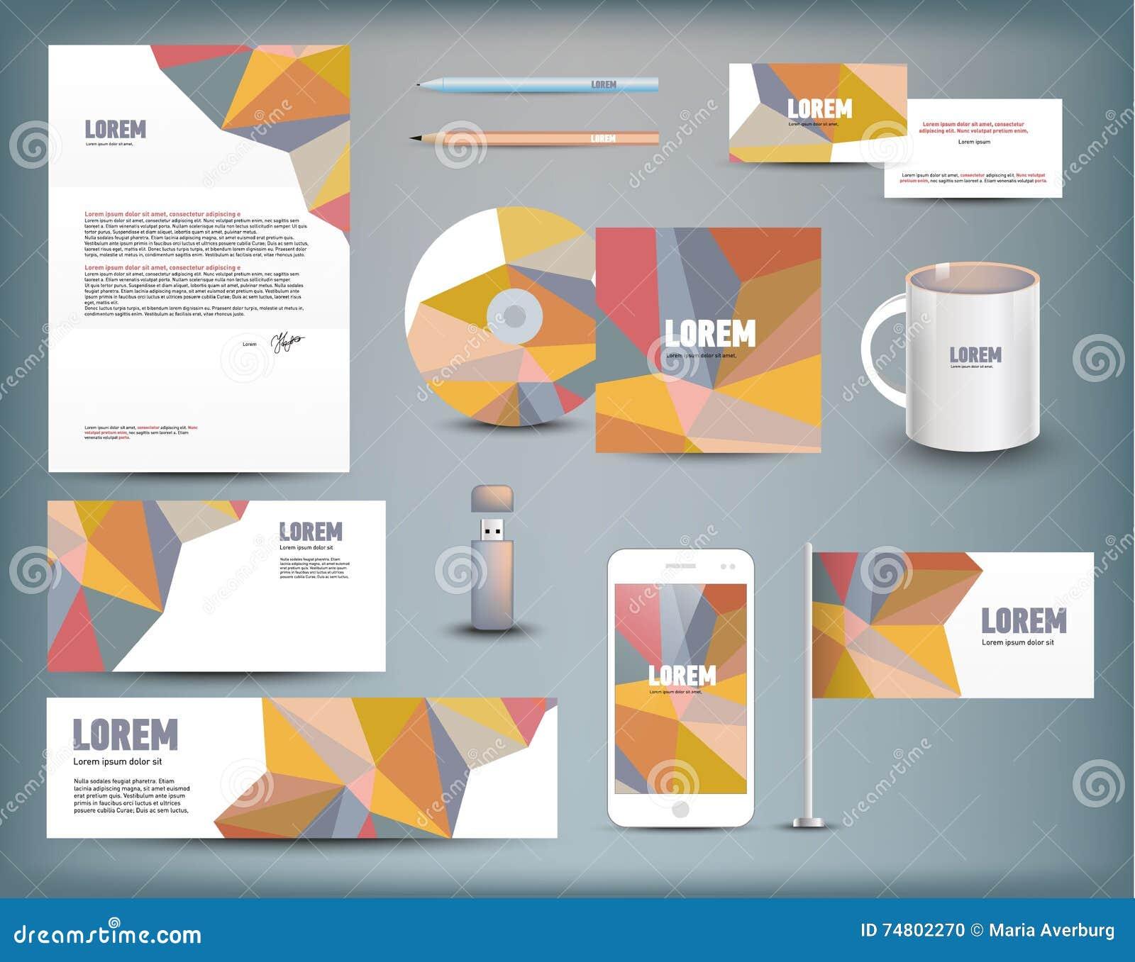 corporate identity templates stock vector image 74802270