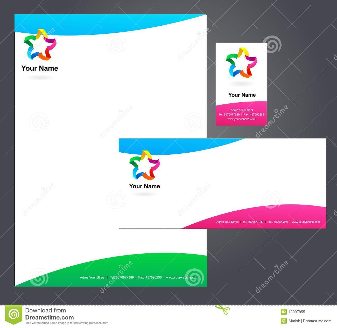 Corporate Letterhead Template  Stock Vector  Illustration Of Card