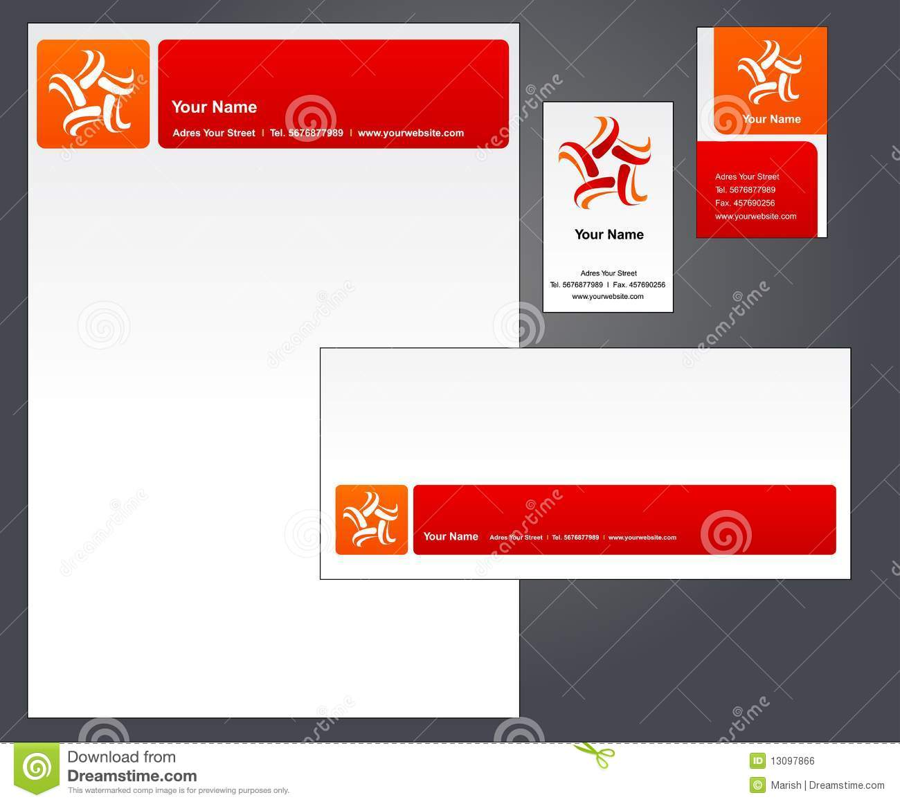 Corporate Letterhead Template At Rs 2 Piece: Corporate Letterhead Template #2