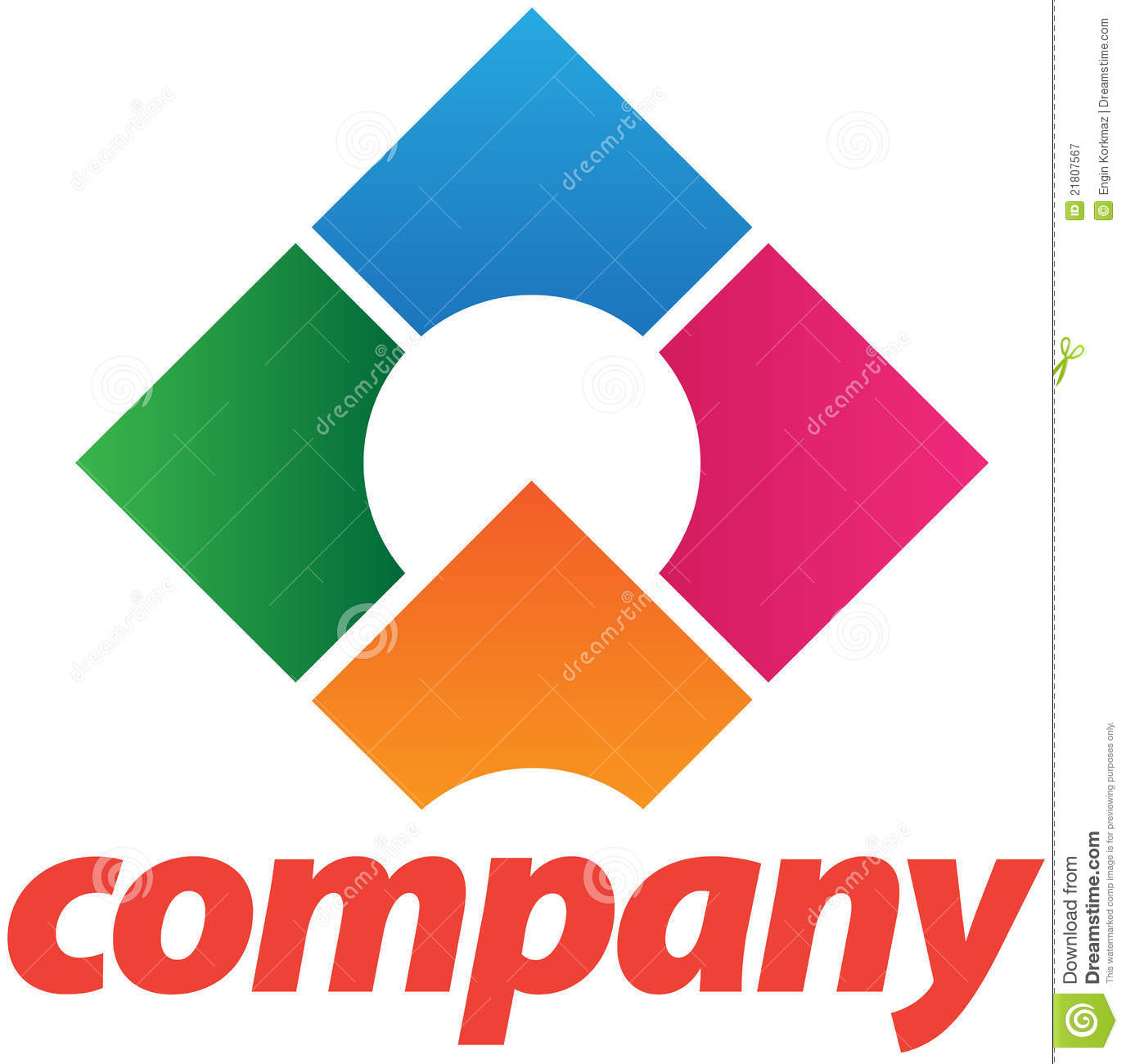 corporate logo design template stock vector