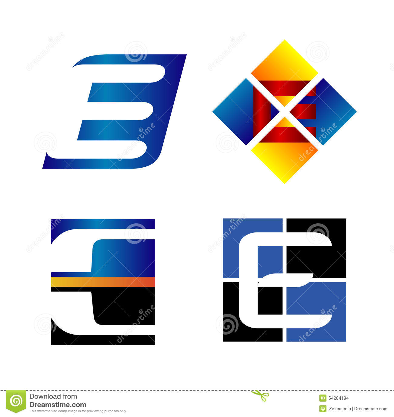 Corporate Logo E Letter Company Vector Design Template Stock