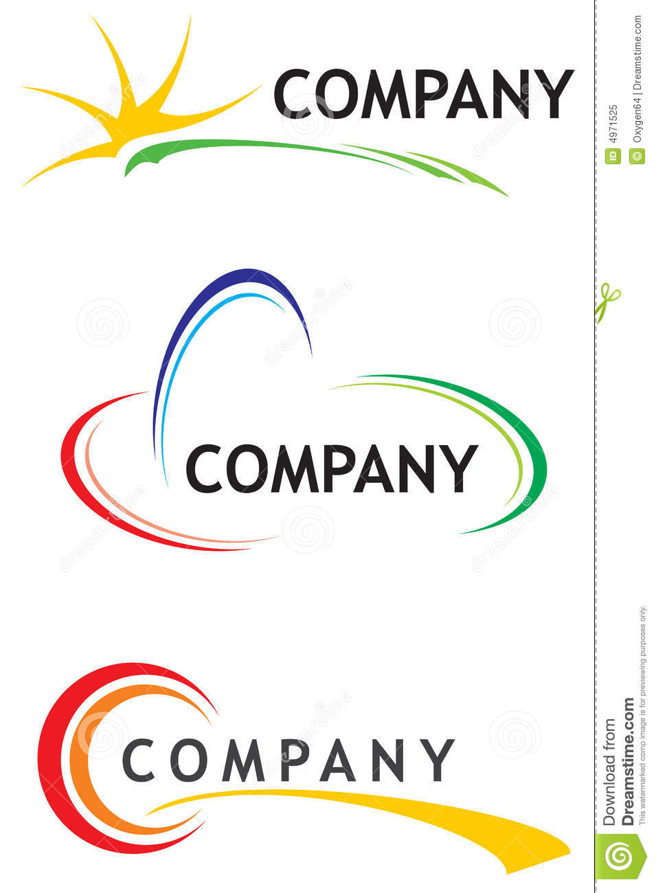 corporate logo templates stock vector  illustration of
