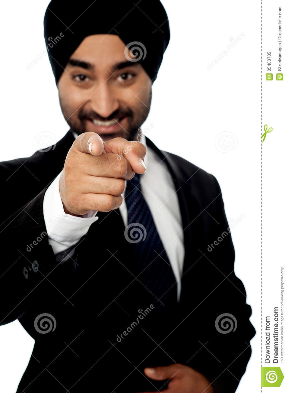 Corporate Man Pointing Towards You Royalty Free Stock