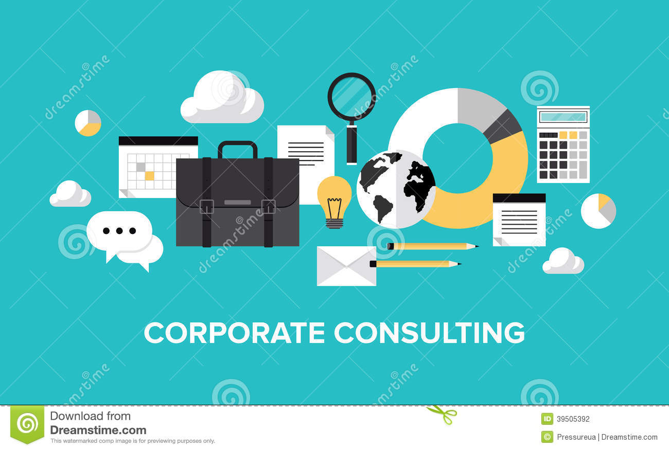 Corporate management and consulting concept stock vector for Planning on line