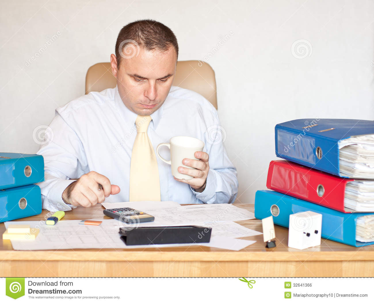 Corporate Manager At The Office Royalty Free Stock Image ...