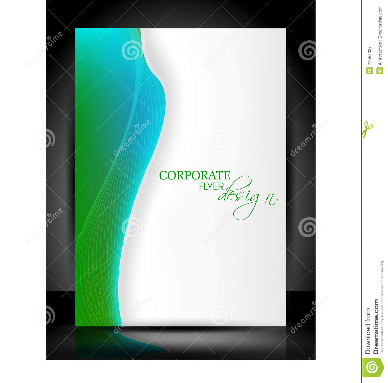 Flyer Template Design Stock Illustration - Image: 49040682