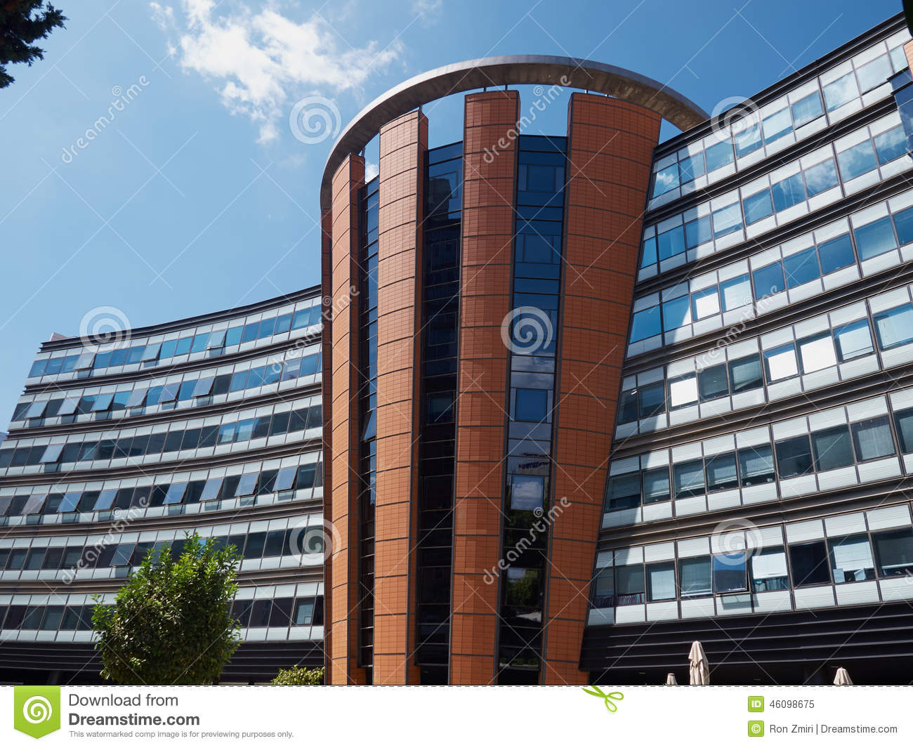 Corporate modern office building stock photo image 46098675 for Modern business building design