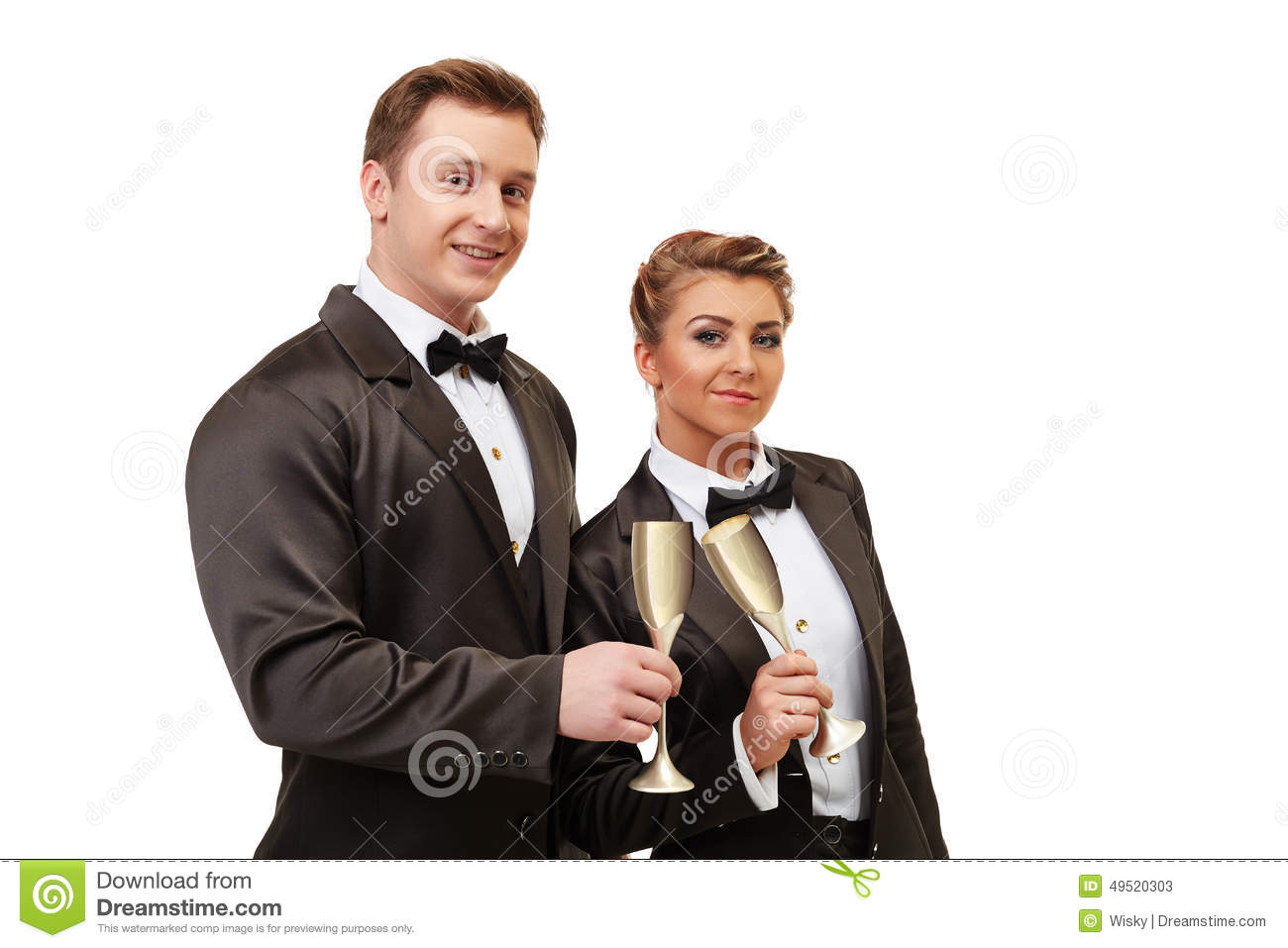 corporate party colleagues clink glasses stock photo image 49520303. Black Bedroom Furniture Sets. Home Design Ideas