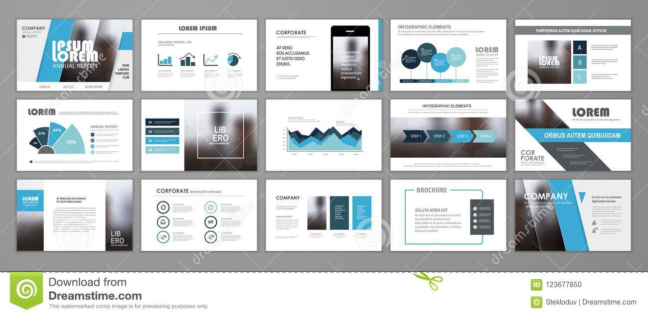 corporate slideshow templates stock vector illustration of company