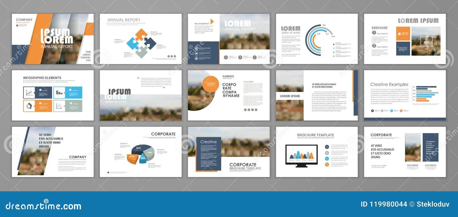 corporate slideshow templates stock vector illustration of diagram